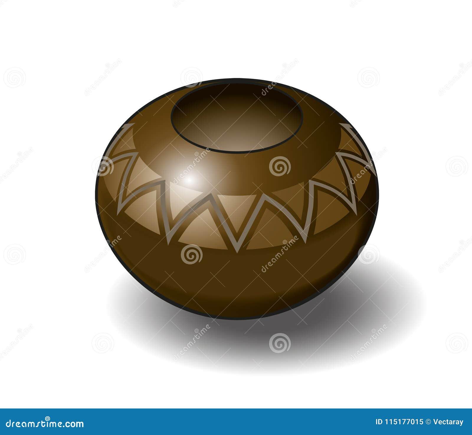 Ilustração isométrica do vetor de Zulu Pot