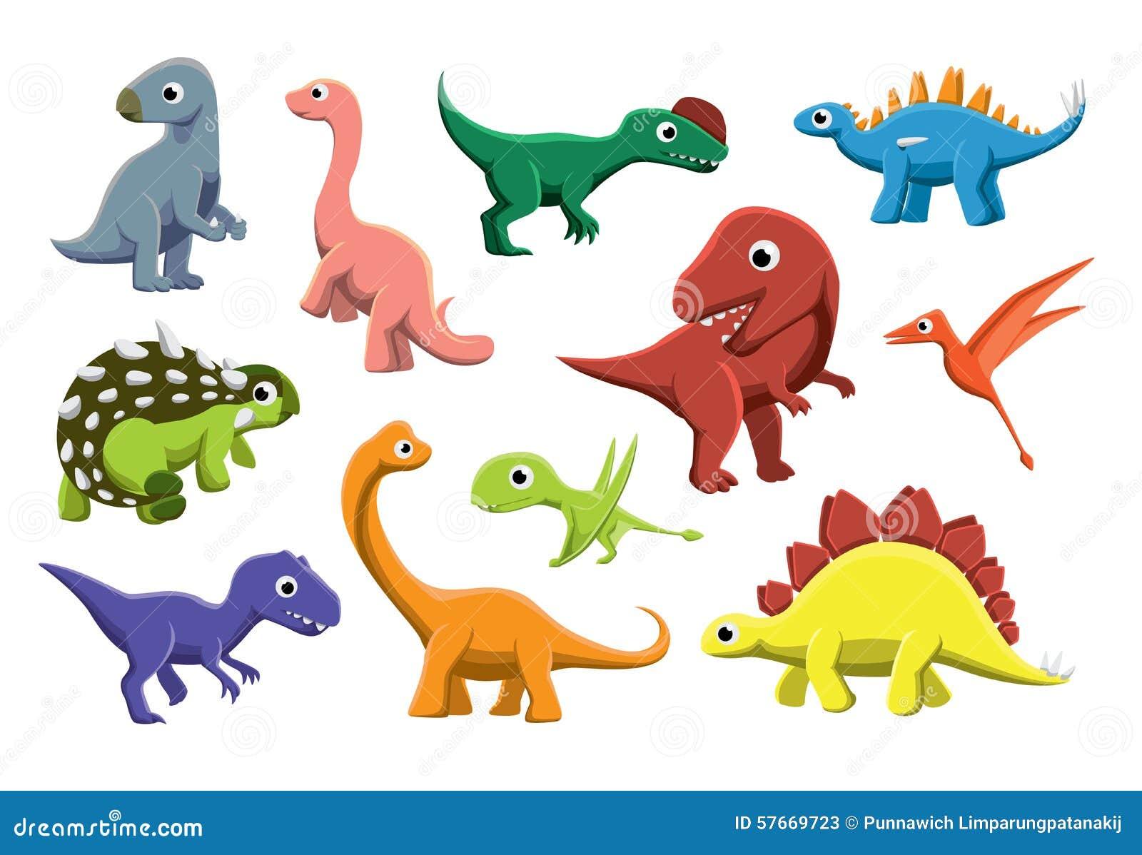 Zoológico De Animais Bebê Dos Desenhos Animados Vetor: Ilustração Jurássico Do Vetor Dos Desenhos Animados Dos