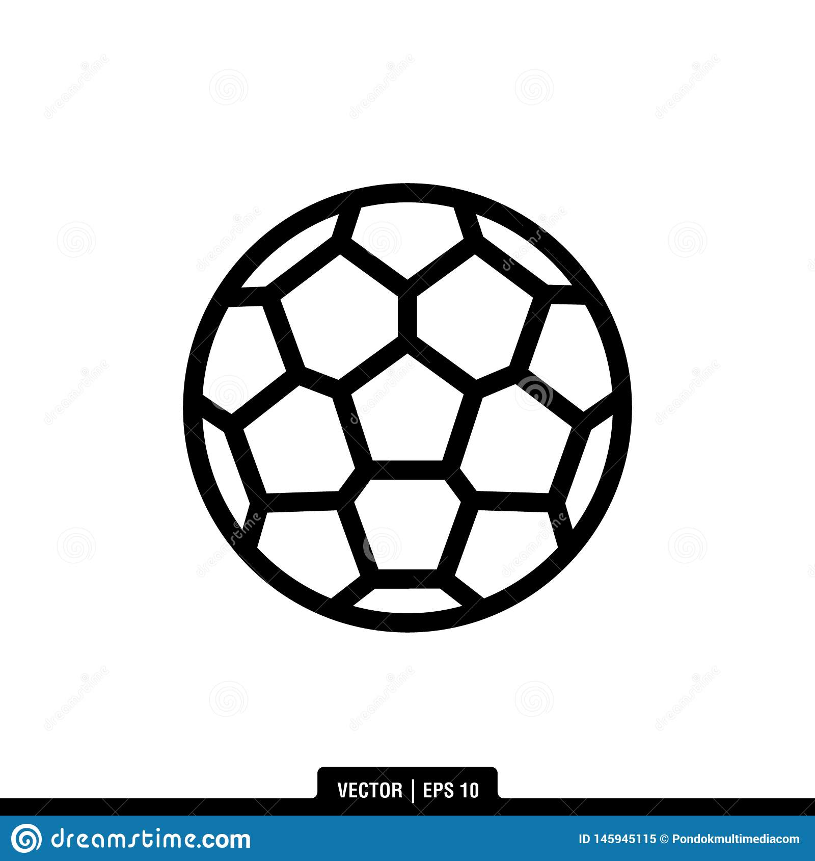 Ilustração Logo Template do vetor do ícone da bola de futebol