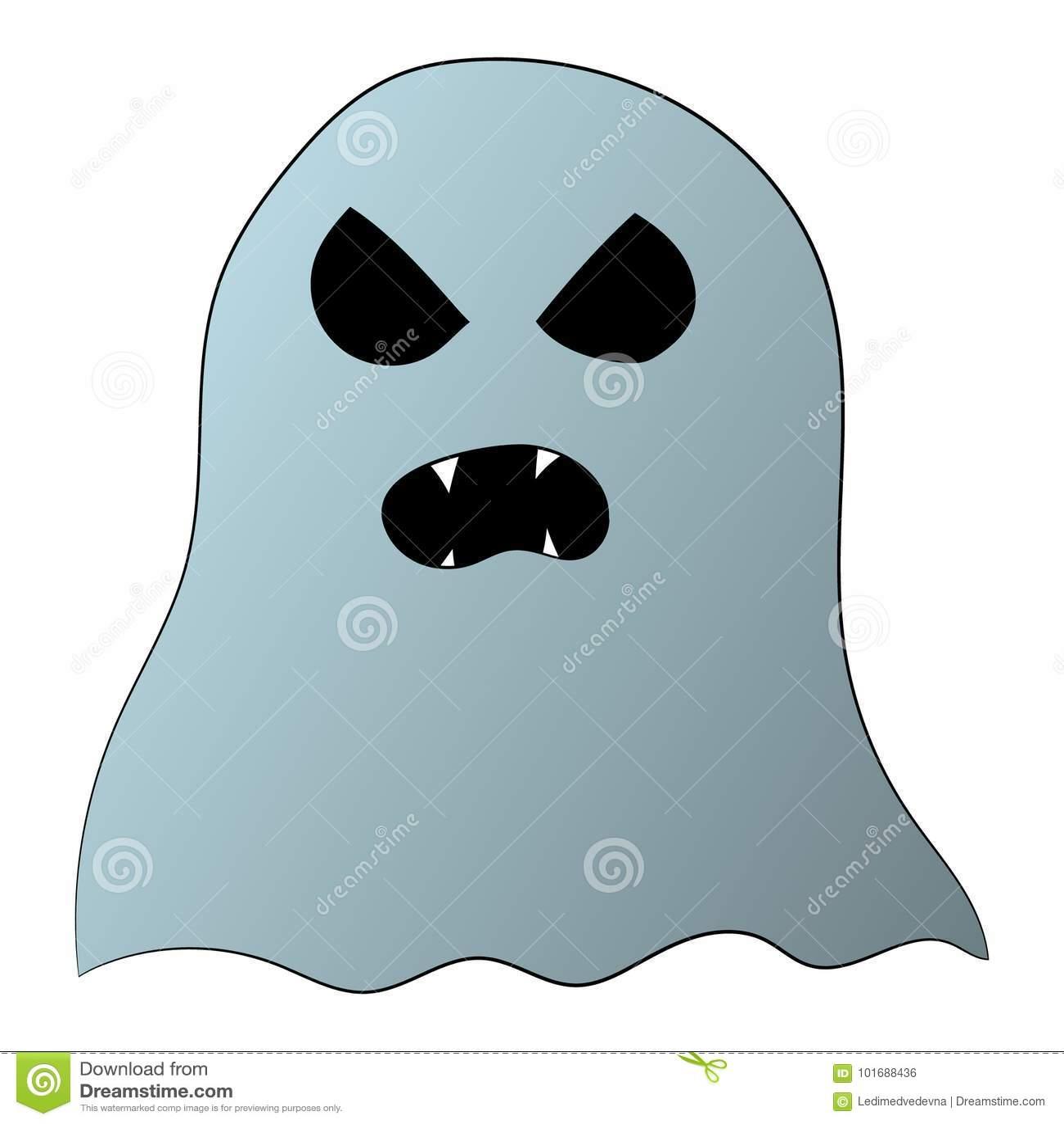 Ilustracao Para Halloween Imagem De Graficos De Vetor Do Fantasma