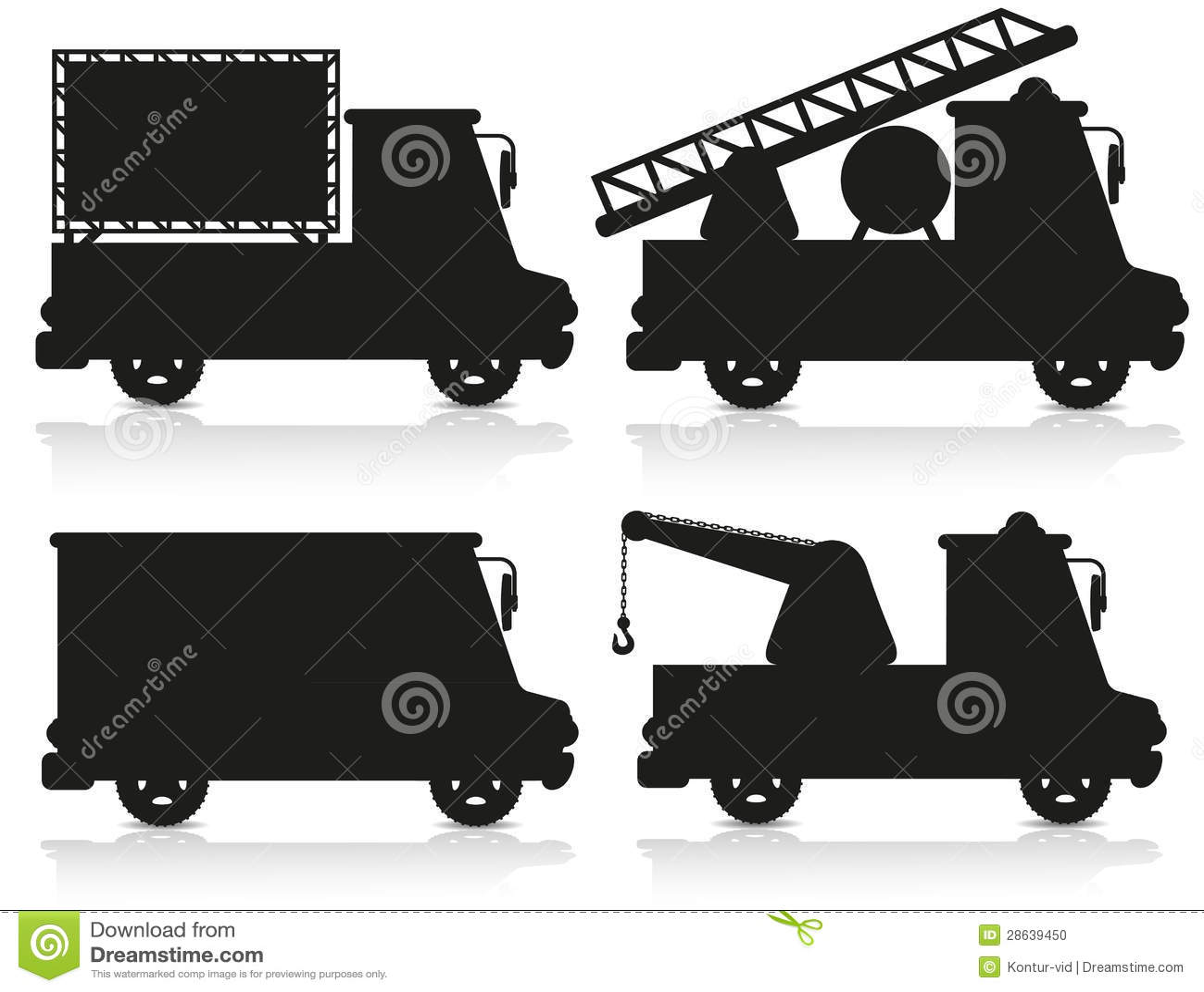 Ilustração preta ajustada do vetor da silhueta do ícone do carro