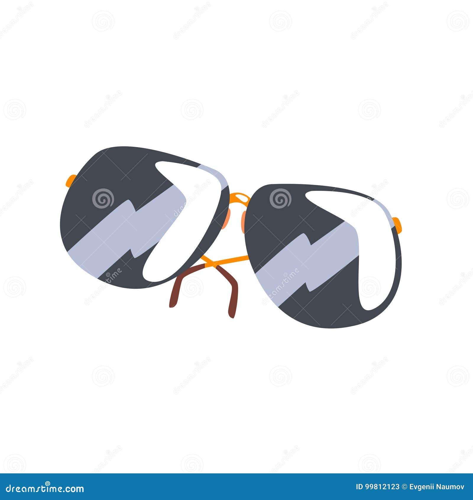 Ilustração Preta Do Vetor Dos Desenhos Animados Dos óculos De Sol ... f778f5a709