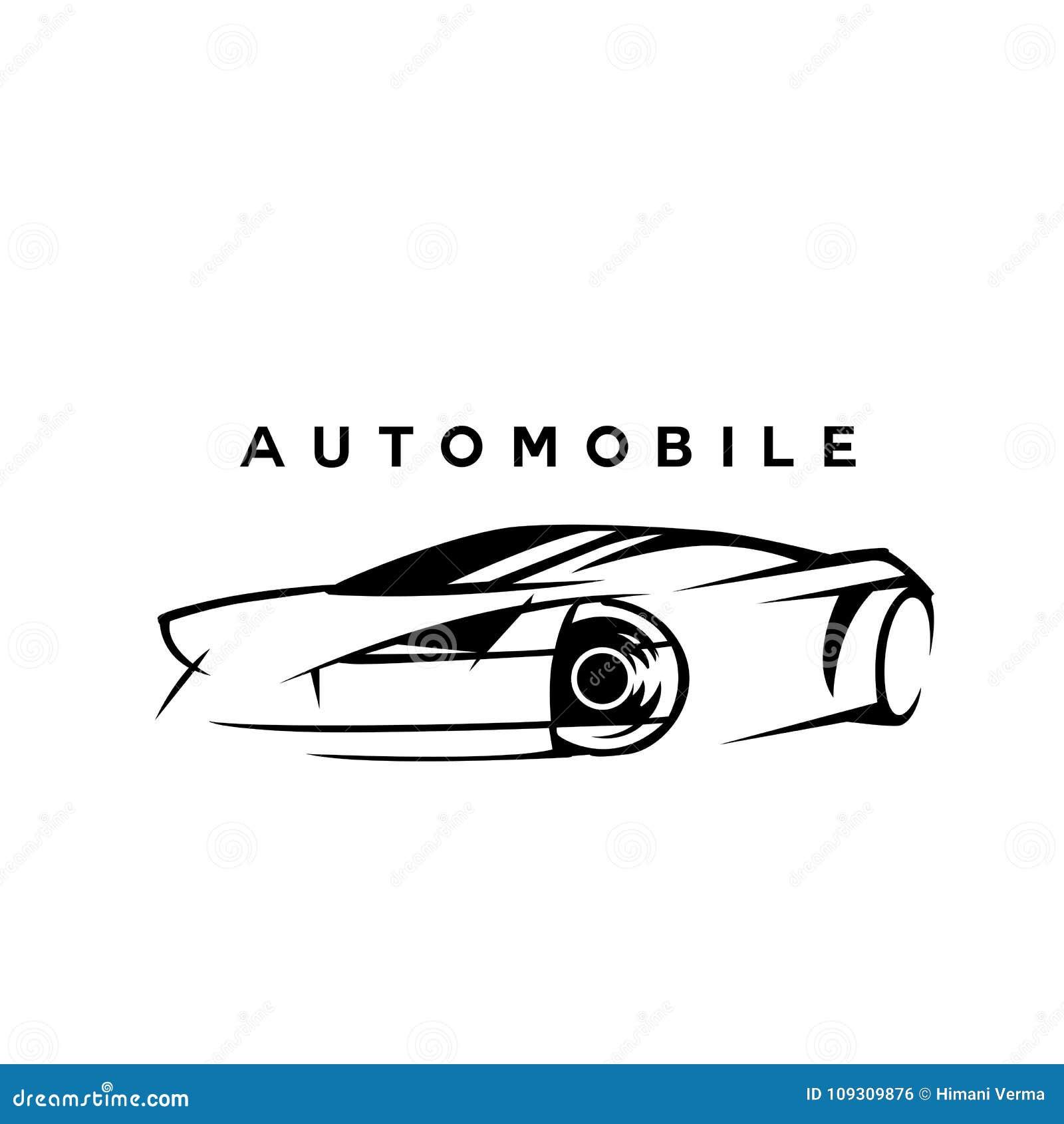Ilustração preto e branco do vetor do esboço do automóvel