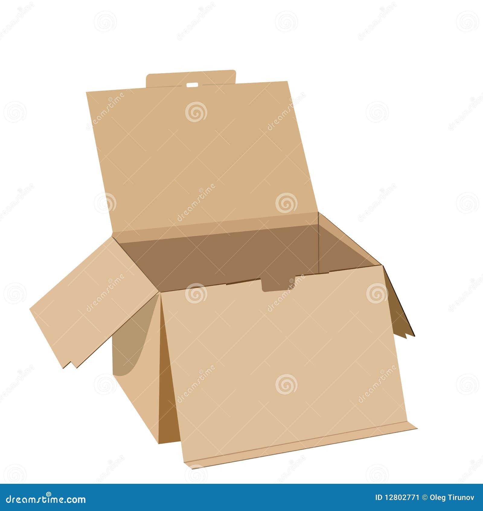 Ilustração realística da caixa
