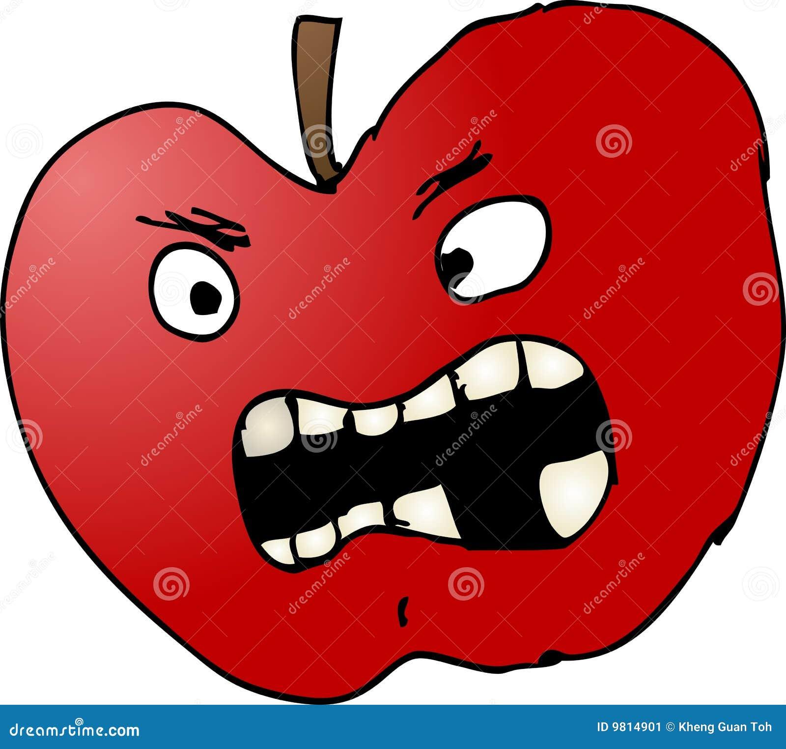 Ilustração ruim da maçã