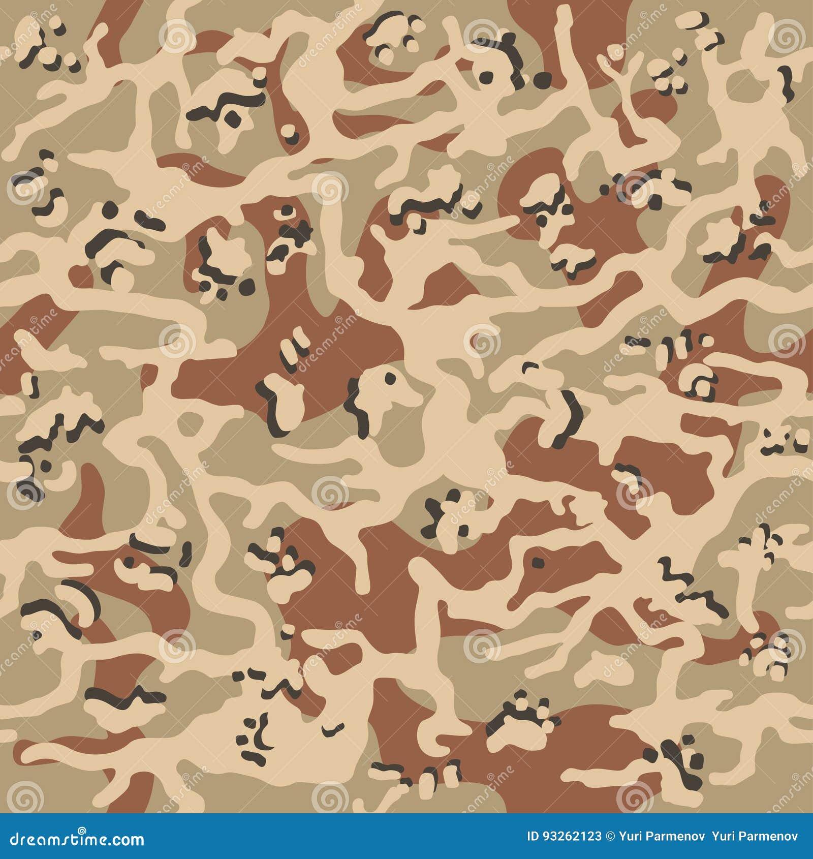 Ilustração sem emenda do vetor do fundo do teste padrão da camuflagem Cópia clássica da repetição do camo do mascaramento do esti