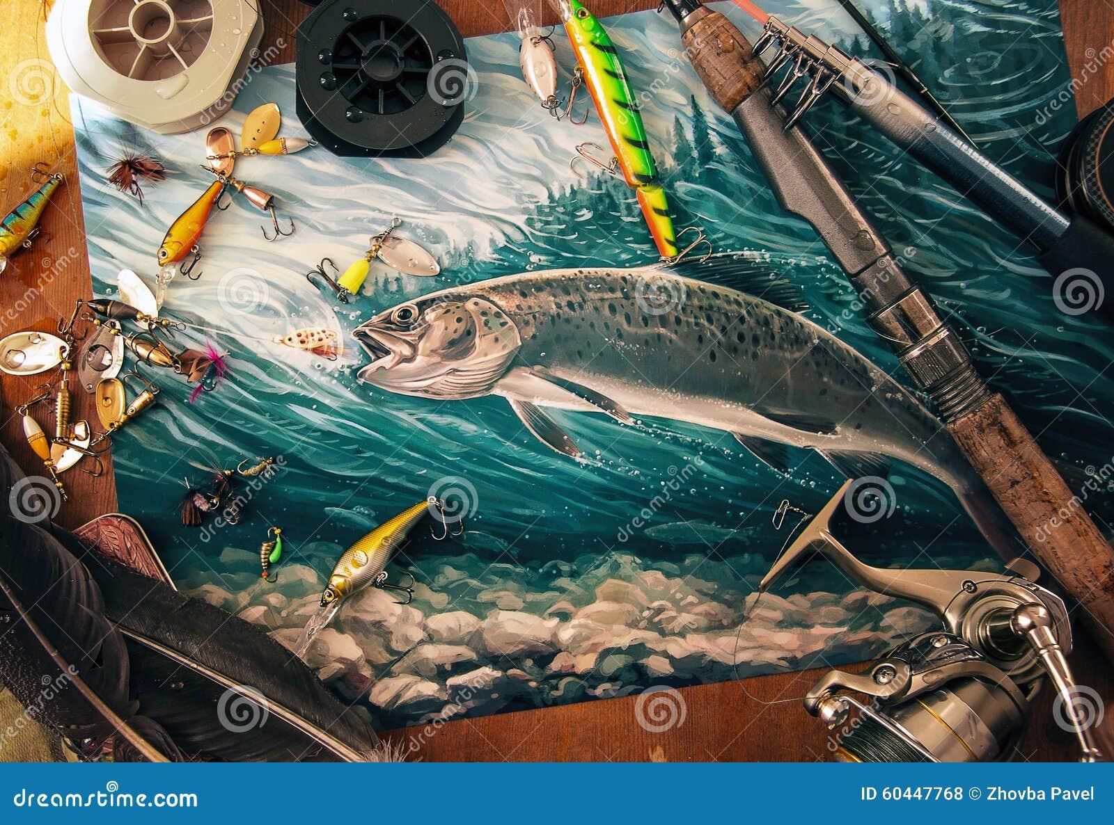 Ilustração sobre a pesca