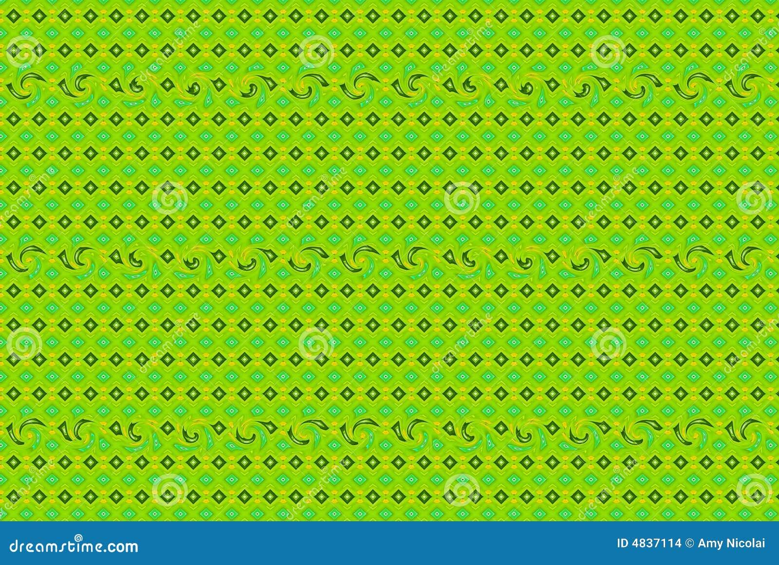 Ilustração verde da mola