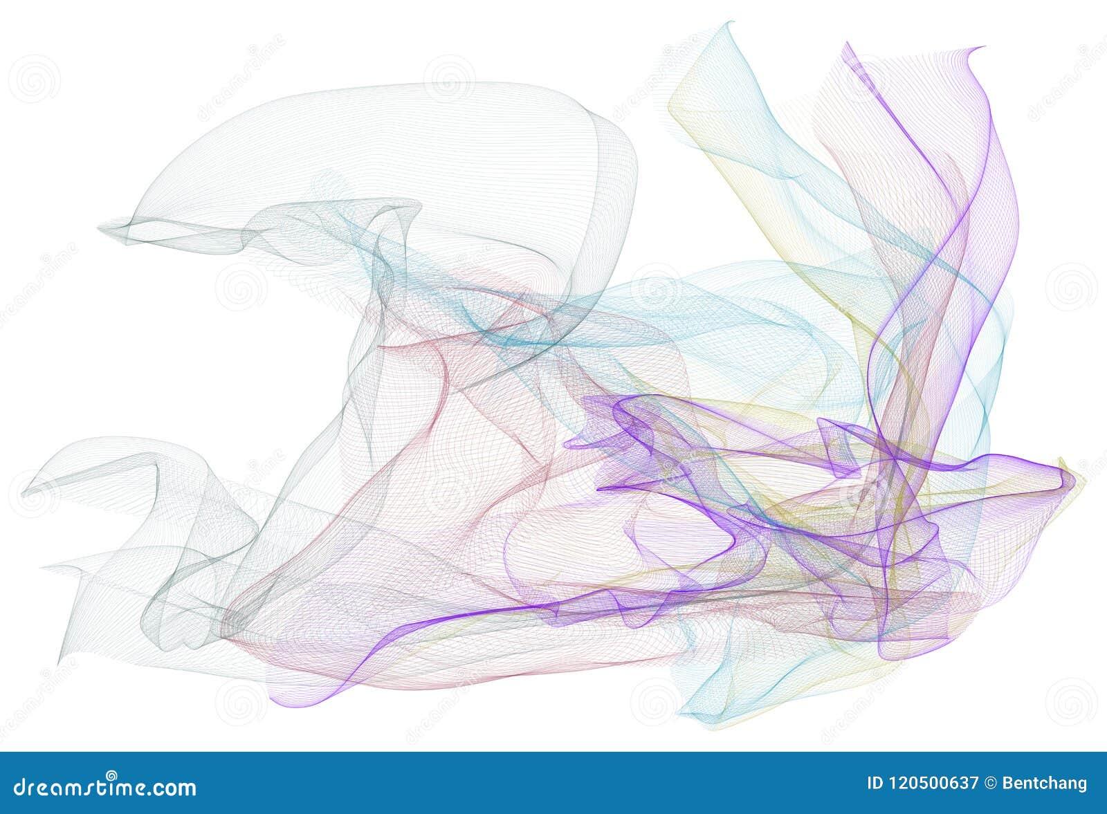 Ilustrações abstratas da linha arte fumarento, conceptuais Contexto, detalhes, gráfico & estilo