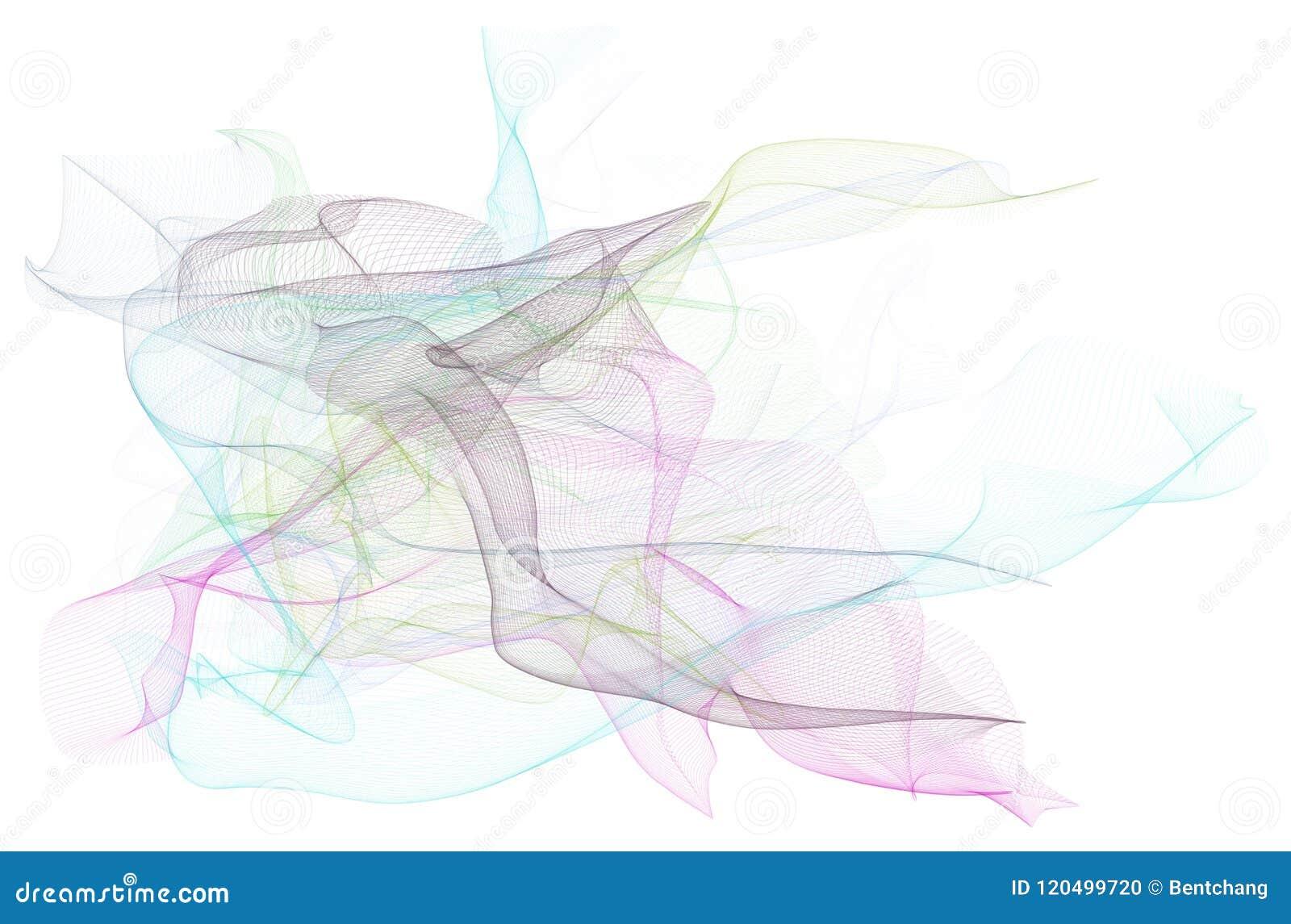 Ilustrações da linha arte fumarento Cor, teste padrão, estilo & desenho