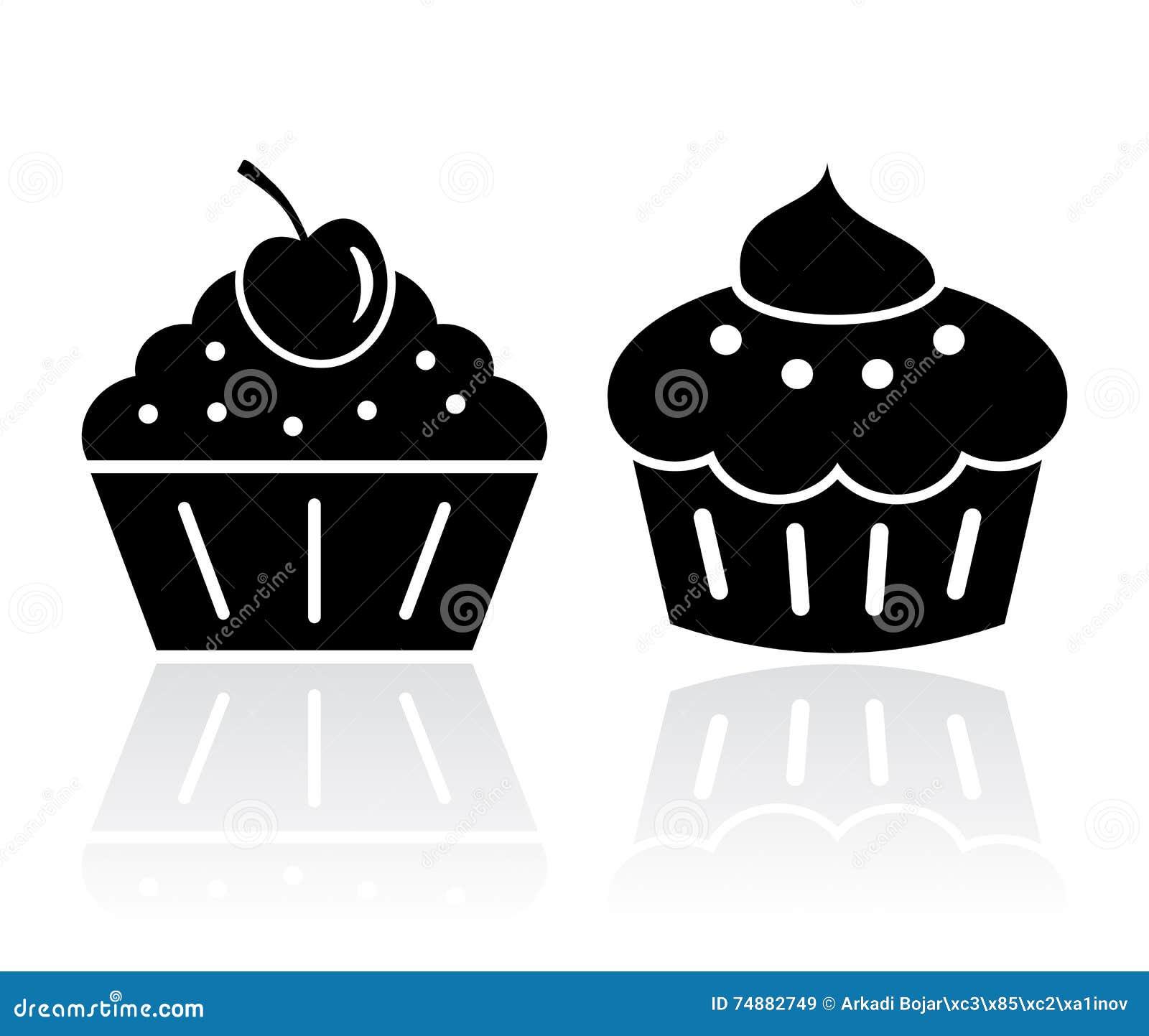 Ilustrações do bolo do queque