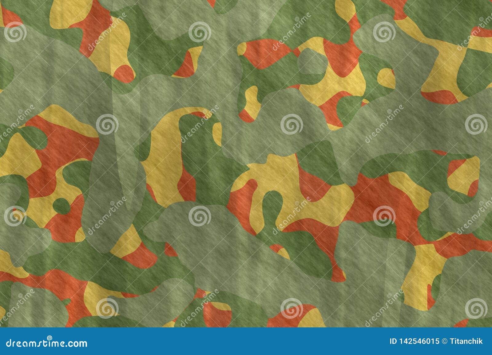 Ilustrações sem emenda Sumário do teste padrão da camuflagem de matéria têxtil