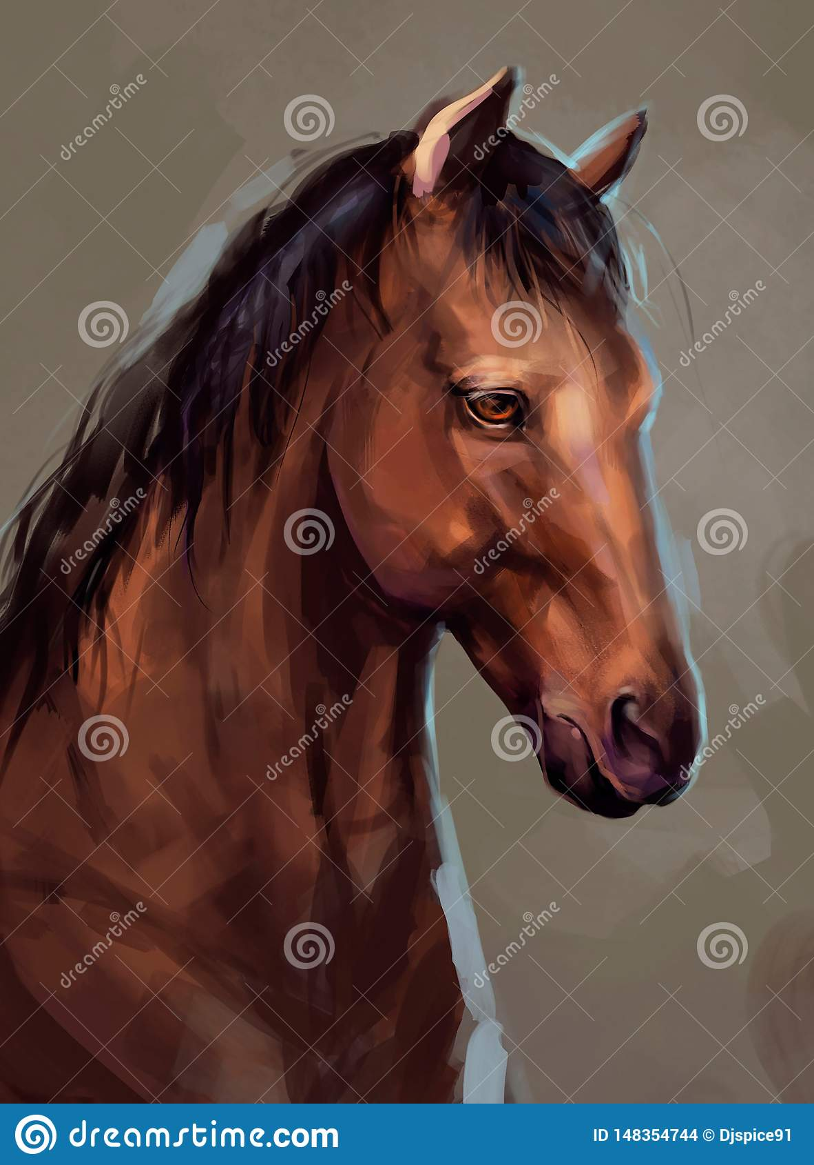 Ilustra??o de um cavalo marrom