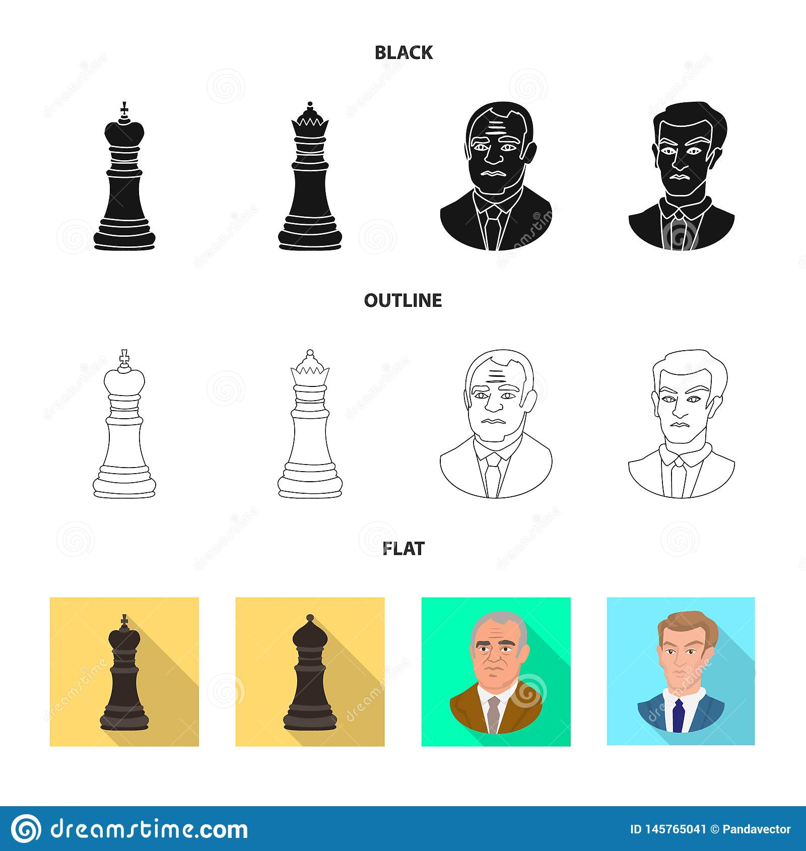 Ilustra??o do vetor do checkmate e do ?cone fino Cole??o do s?mbolo de a??es do checkmate e do alvo para a Web