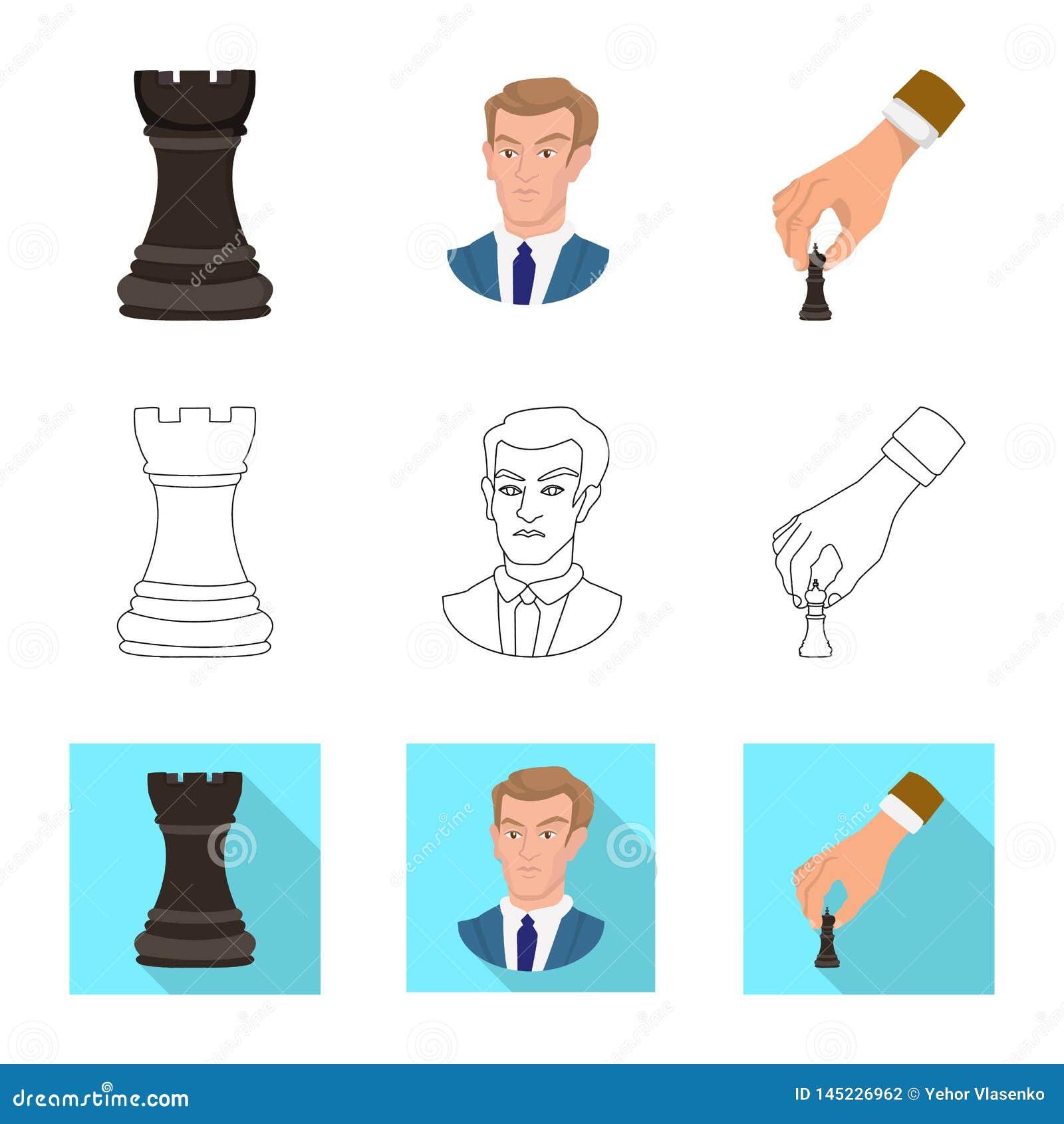 Ilustra??o do vetor do checkmate e do s?mbolo fino Ajuste da ilustra??o do vetor do estoque do checkmate e do alvo