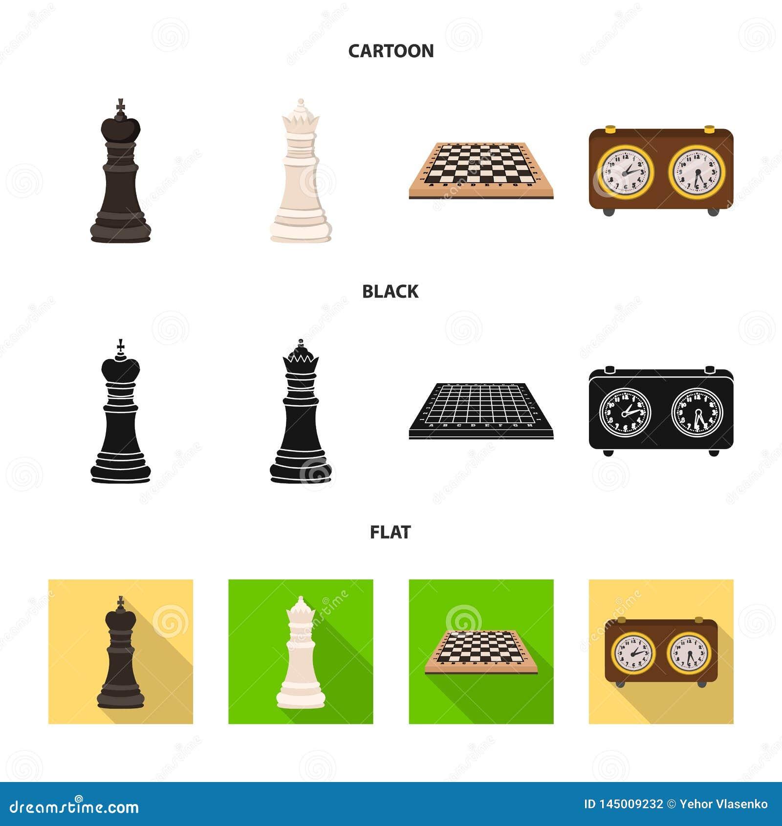 Ilustra??o do vetor do checkmate e do sinal fino Cole??o do s?mbolo de a??es do checkmate e do alvo para a Web