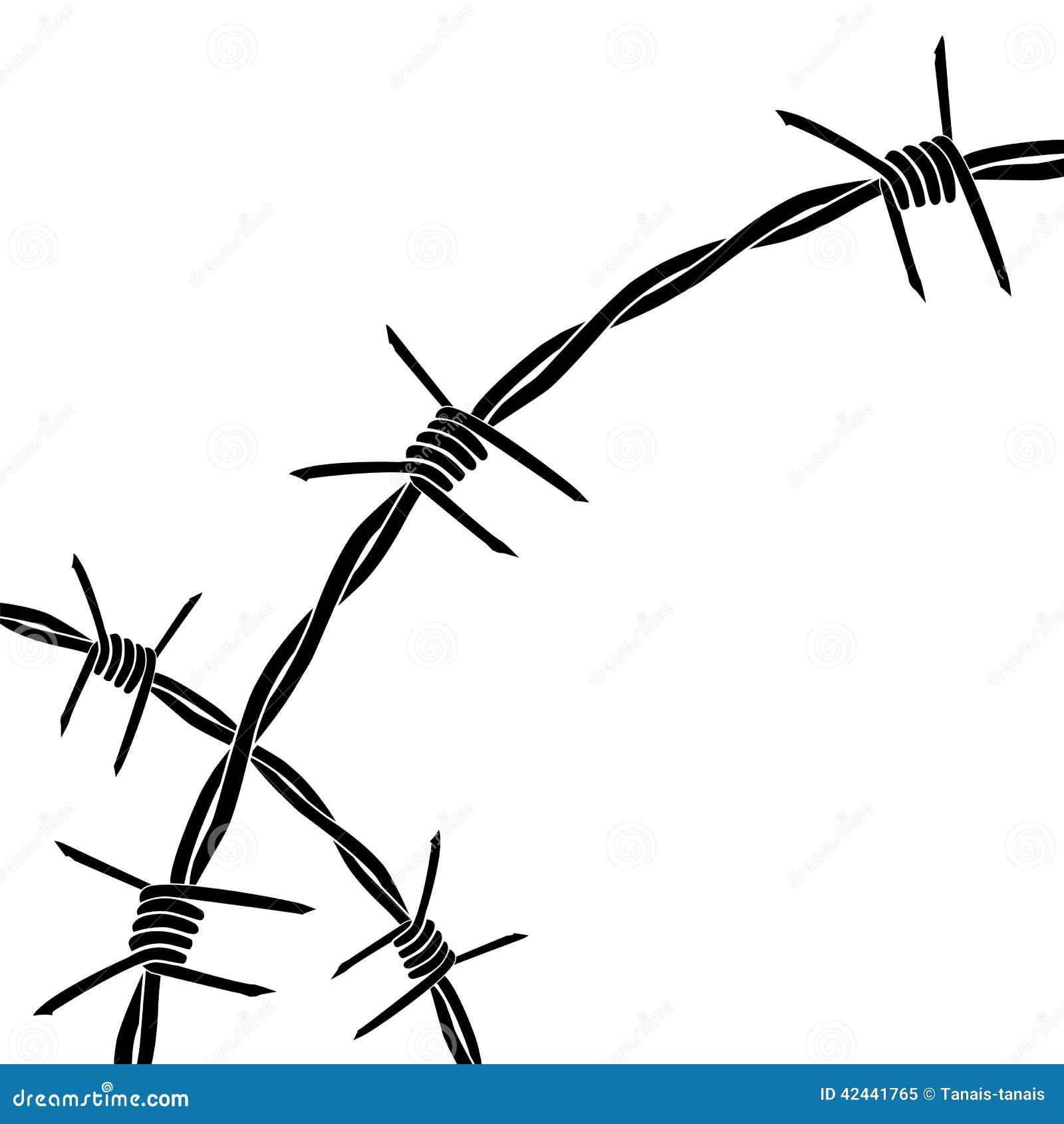 Ilustración abstracta del alambre de púas