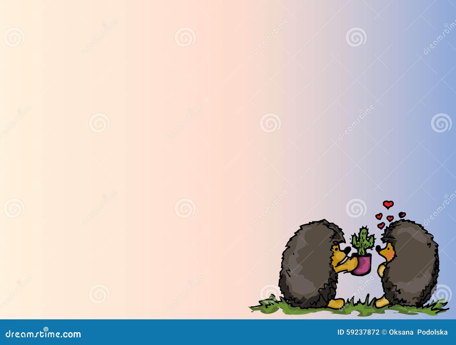 Download Ilustración Amor De Los Erizos De La Historieta Ilustración del Vector - Ilustración de historieta, trazado: 59237872
