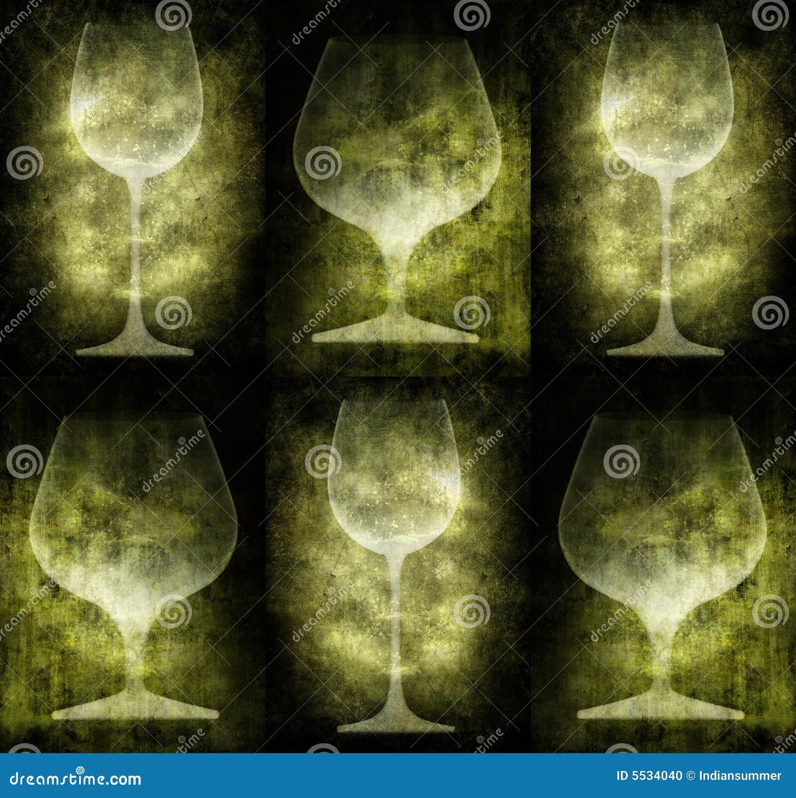 Ilustración de Grunge con los vidrios