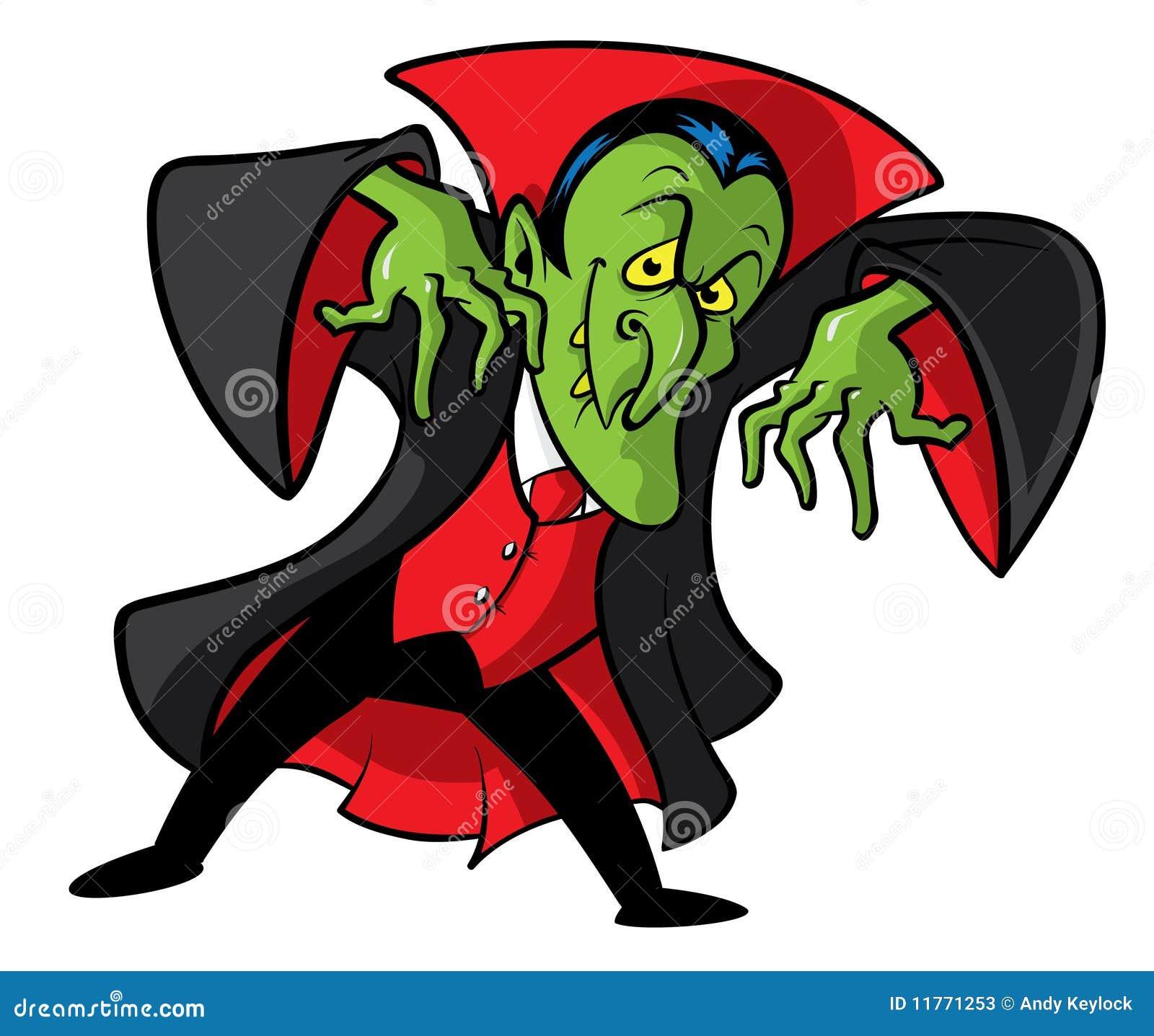 Ilustración de la historieta del vampiro de Dracula