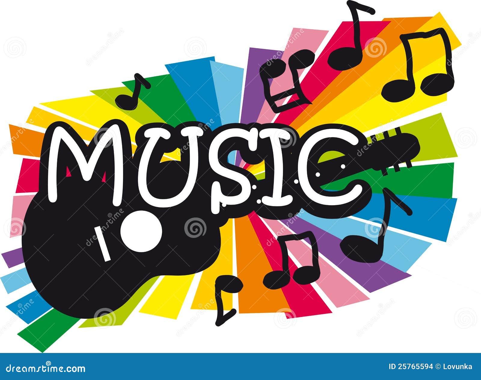 Ilustración de la música y de la guitarra