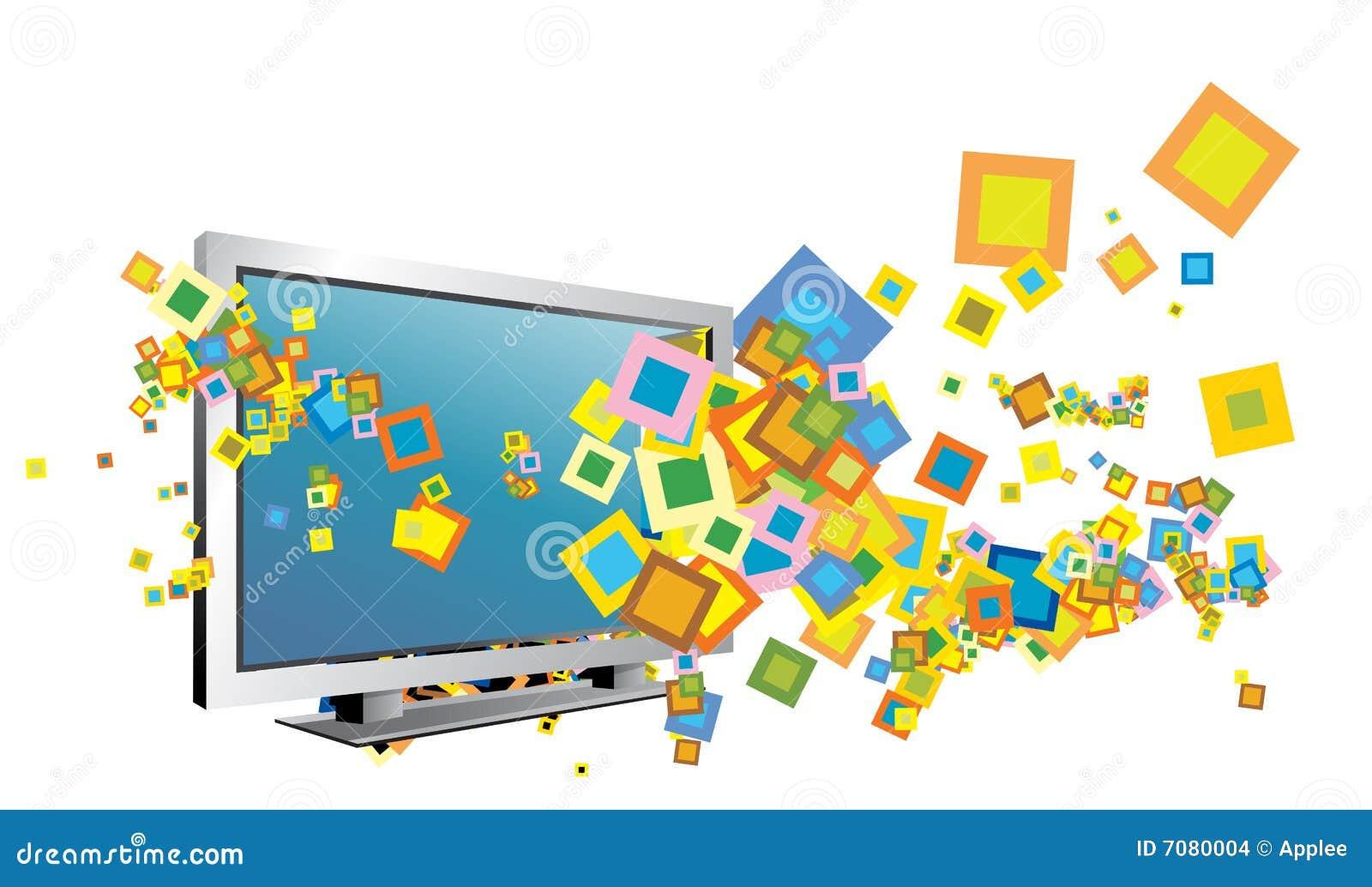 Ilustración de la TV