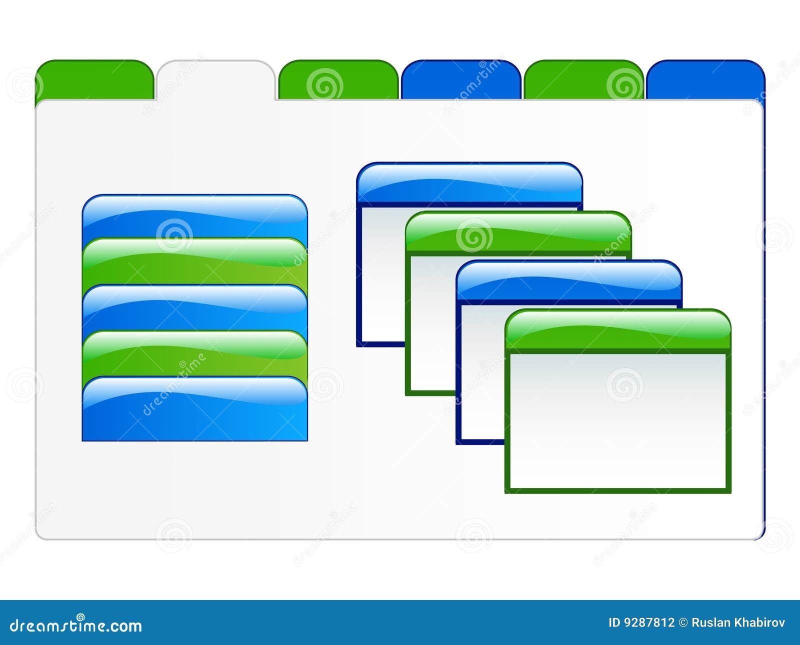 Ilustración de los elementos del Web