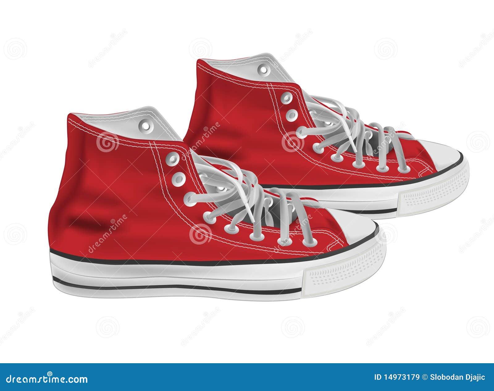 Ilustración de los zapatos atléticos