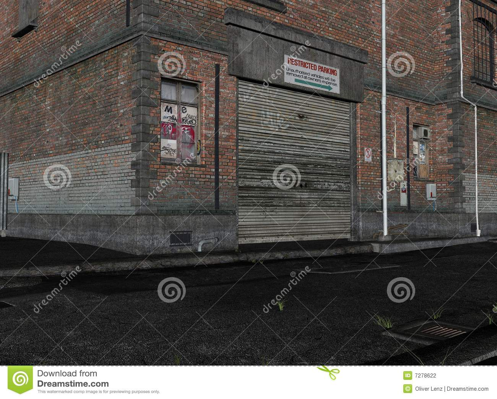 Ilustración de un callejón