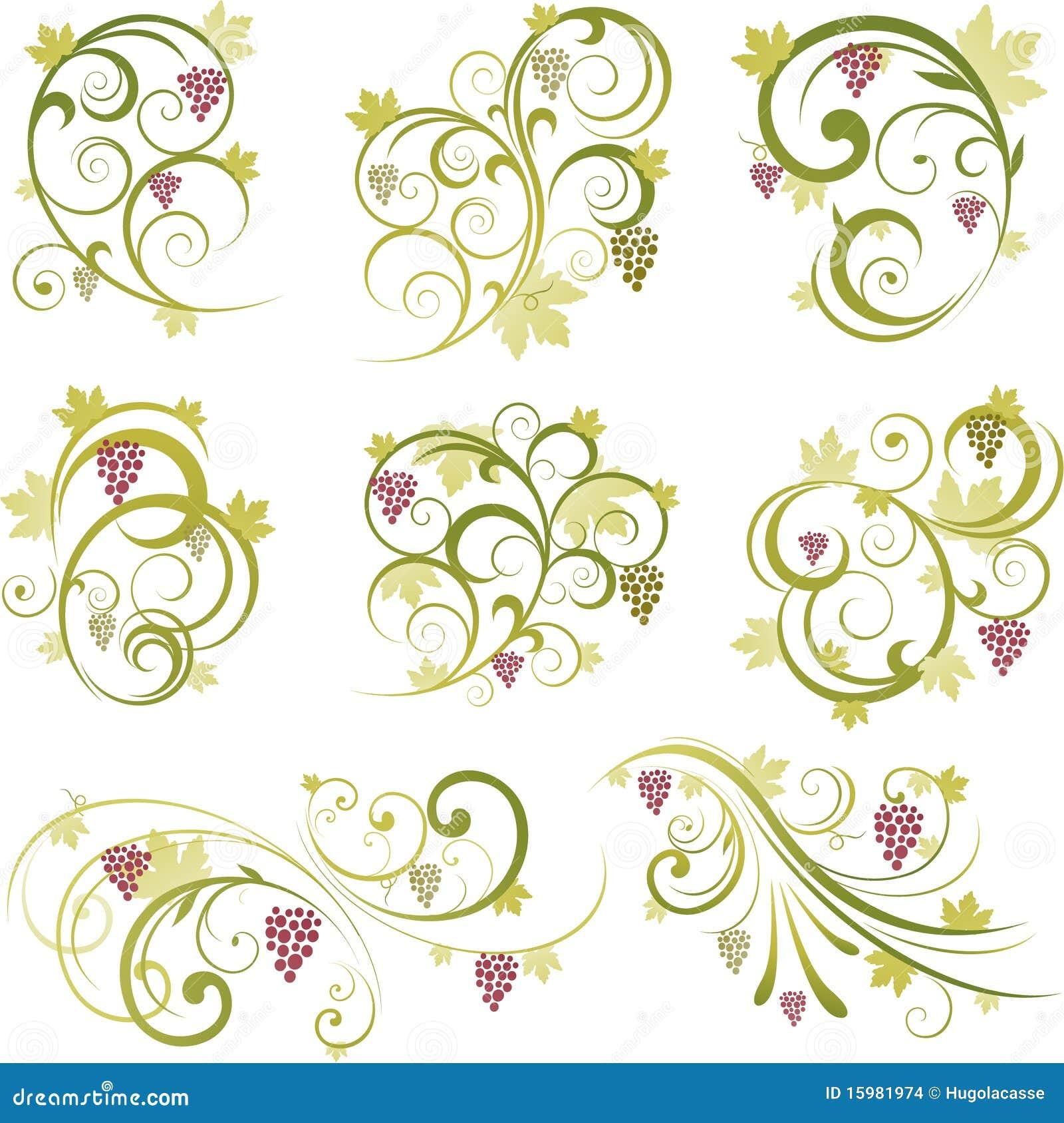 Ilustración decorativa de la uva