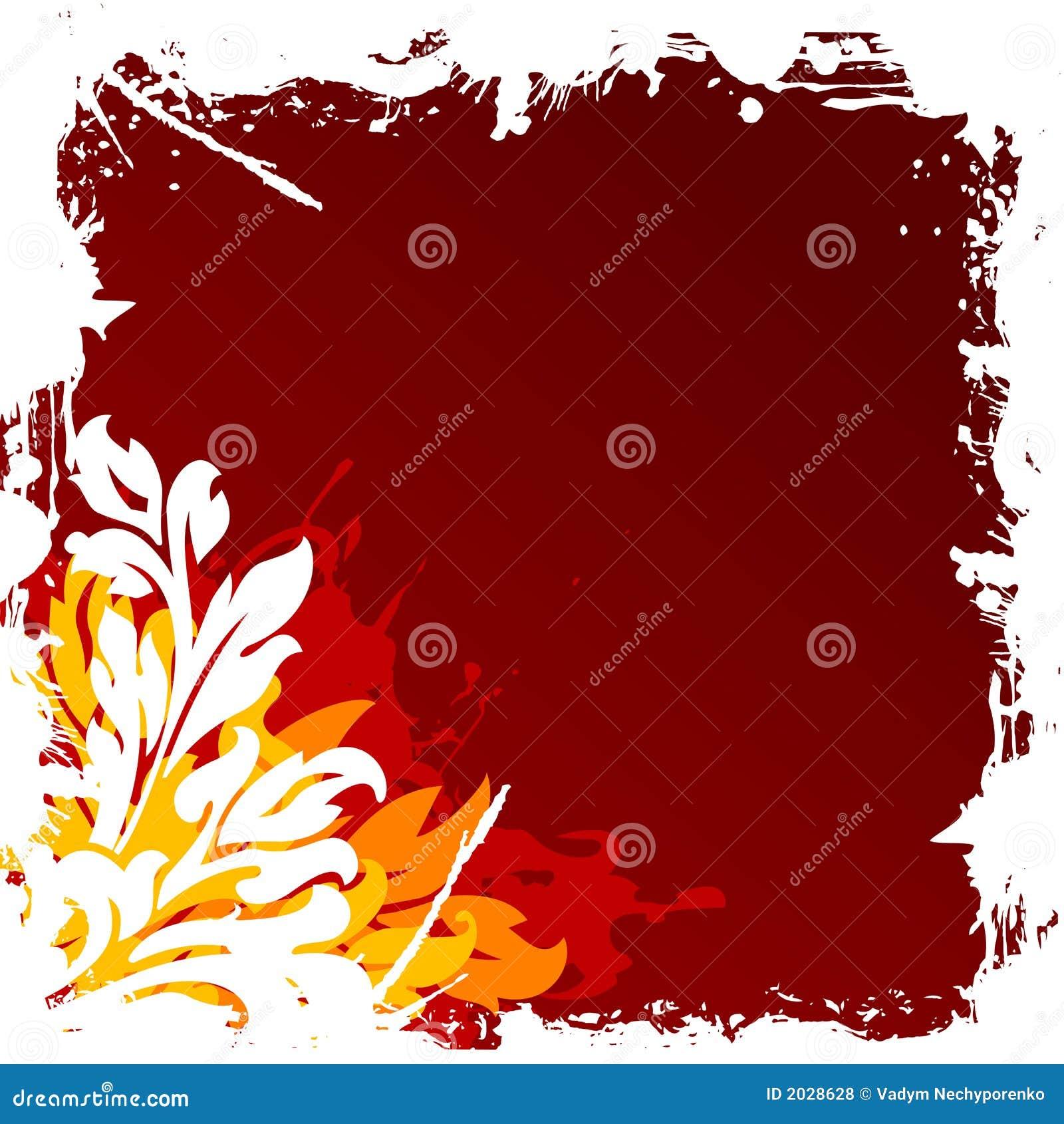Ilustración decorativa floral del vector del fondo del grunge abstracto