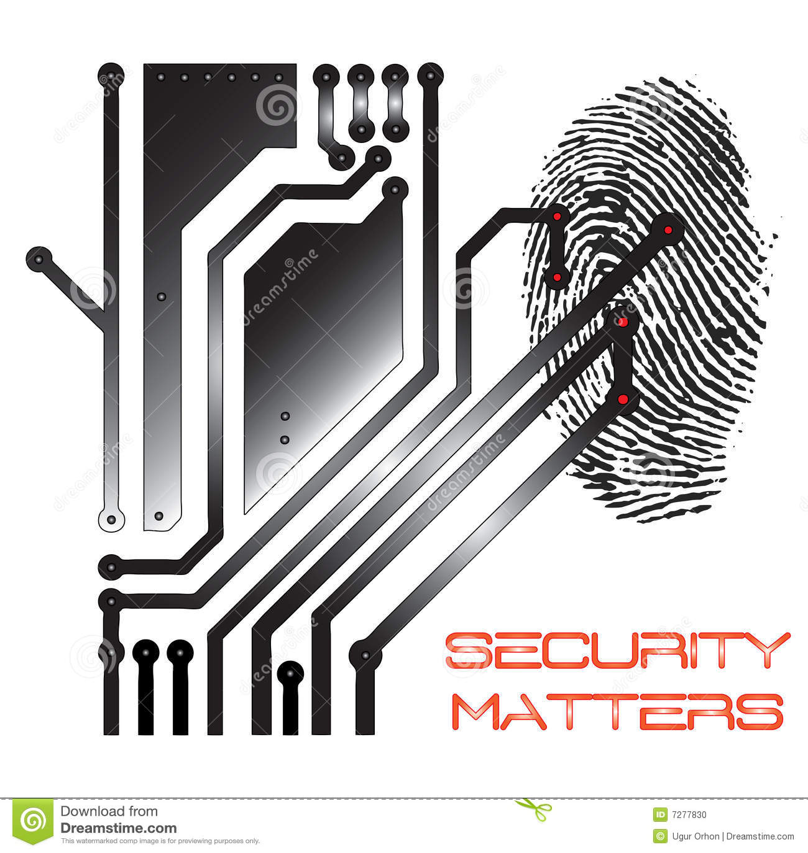 Ilustración del concepto de la seguridad