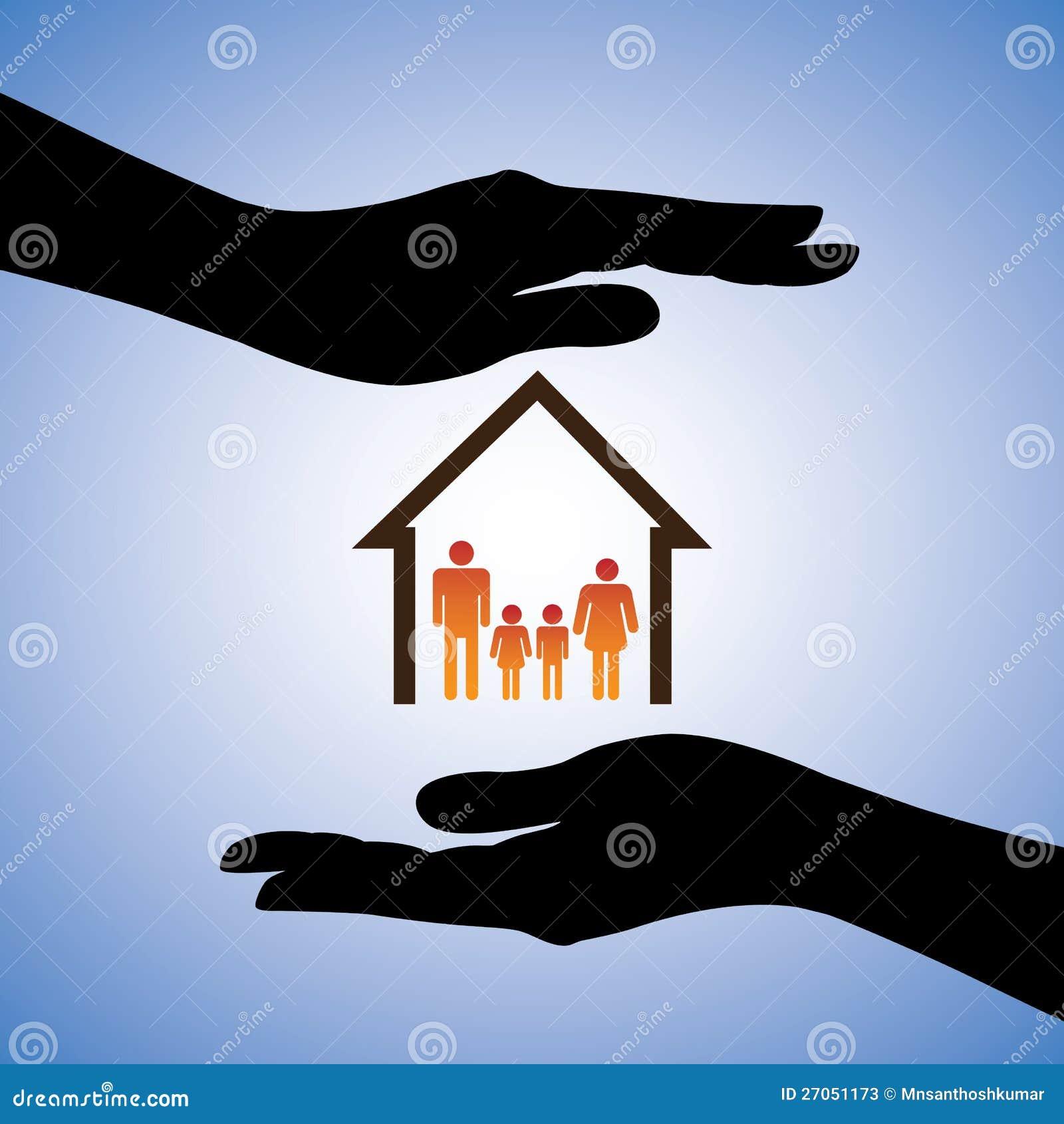 Ilustraci n del concepto de la seguridad de la casa y de - Seguridad de casas ...