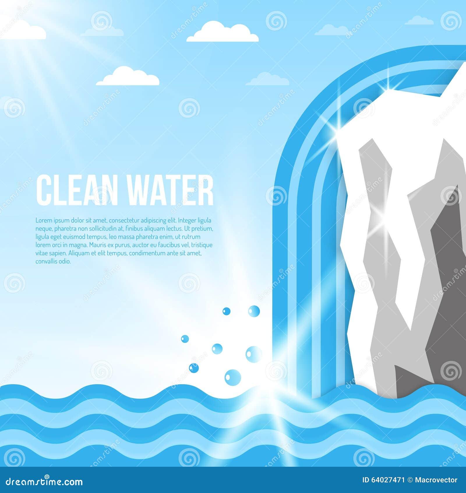 Ilustración del fondo del agua