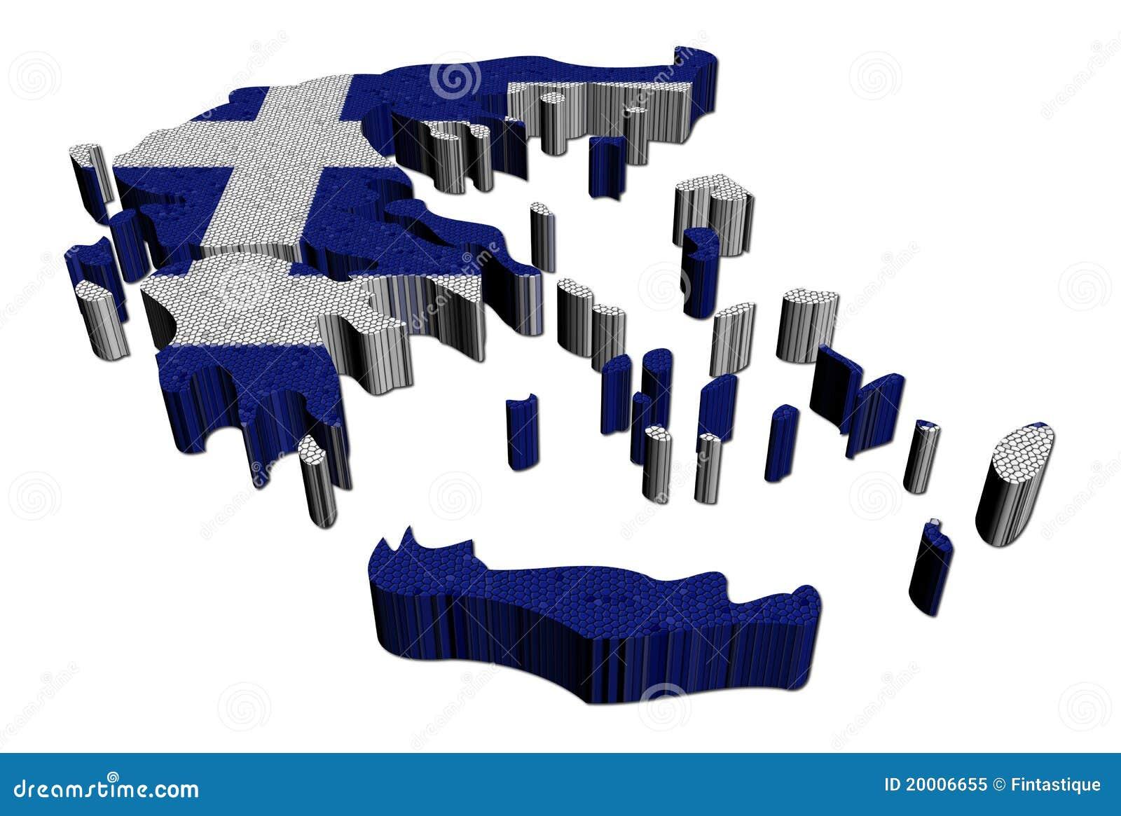 Ilustración del mosaico del indicador de la correspondencia de Grecia