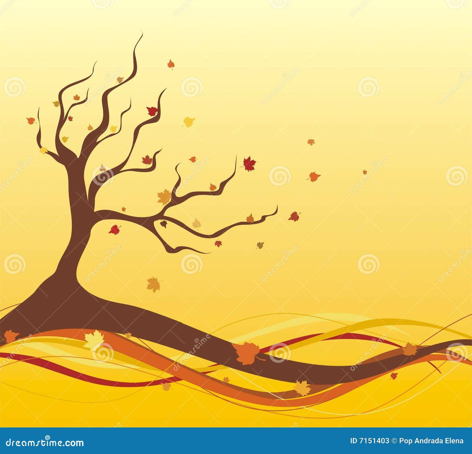 Ilustración del otoño