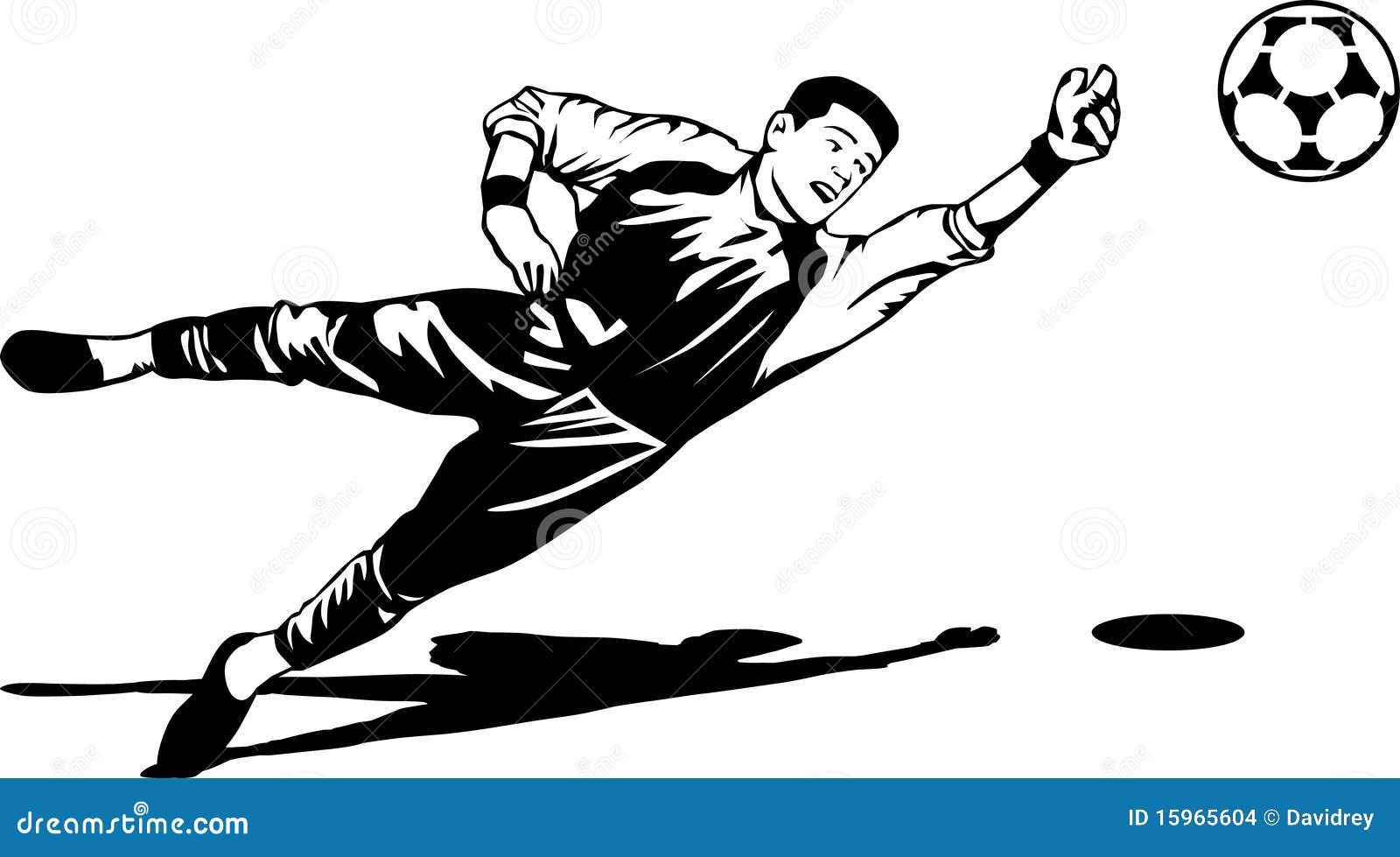 El Portero Del Fútbol Golpeó El Ejemplo Del Vector Del: Ilustración Del Portero Del Fútbol Imagenes De Archivo