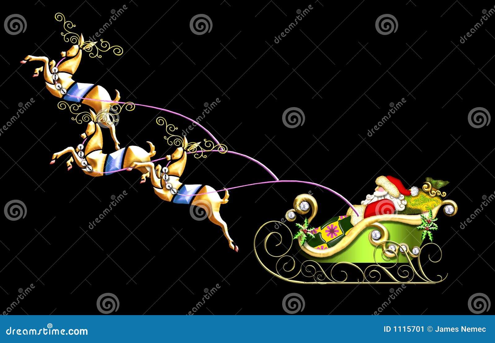 Ilustración del trineo de Santa