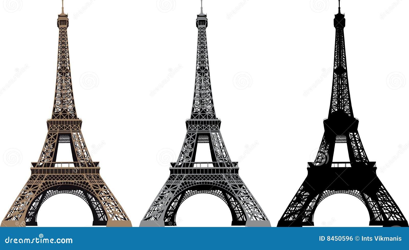 Ilustración del vector de la torre Eiffel