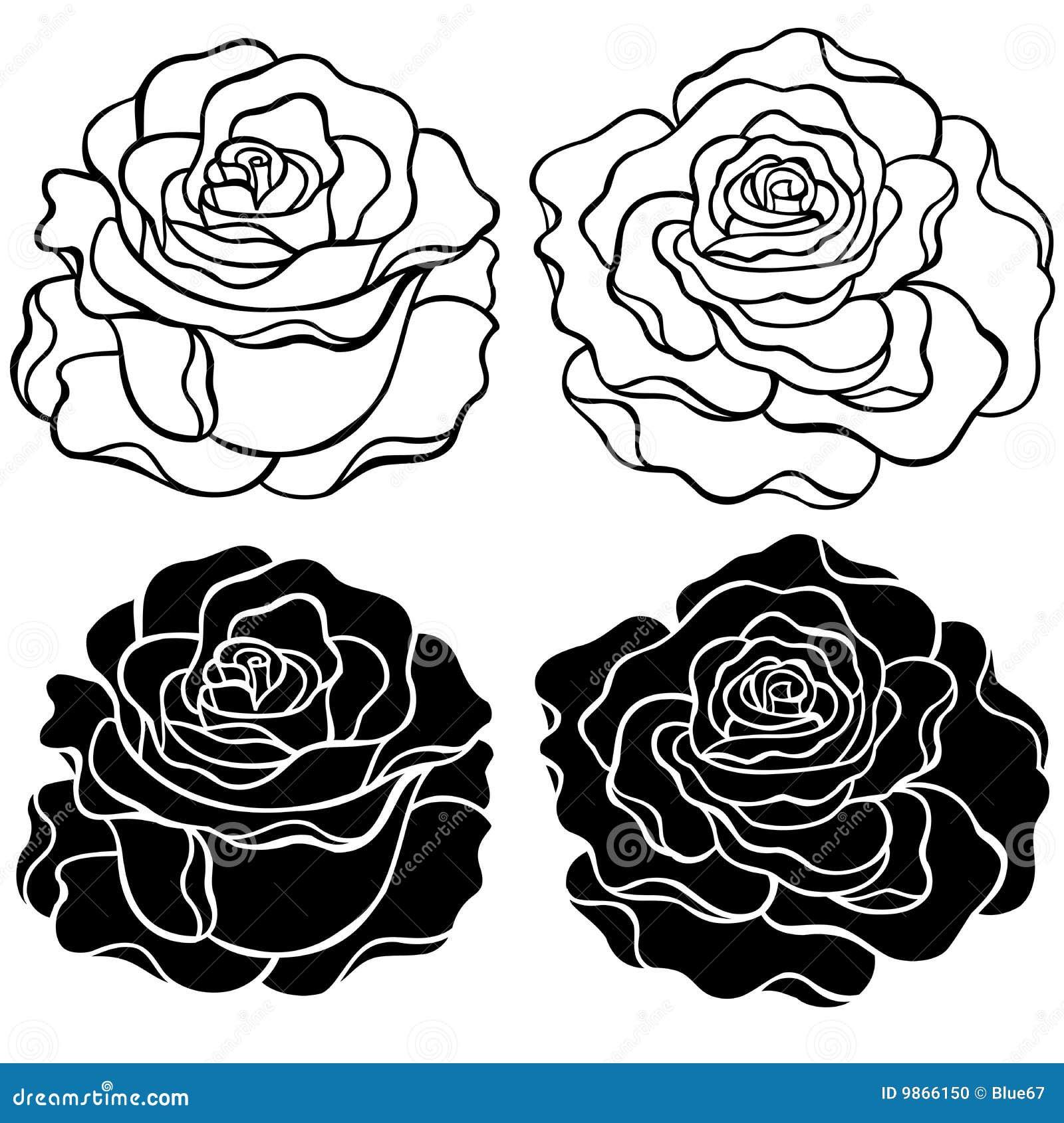 Ilustración del vector de las rosas