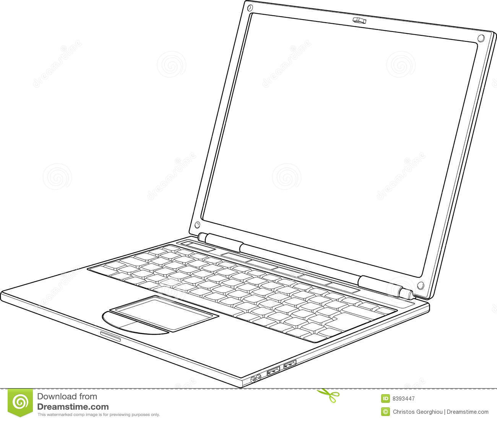 ilustraci u00f3n del vector del esquema de la computadora