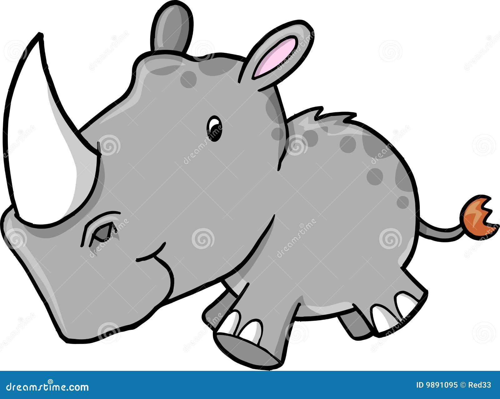 Ilustración del vector del rinoceronte