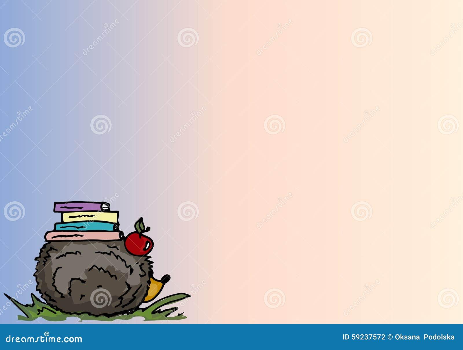 Download Ilustración Erizo De La Historieta Con Los Libros Fondo Ilustración del Vector - Ilustración de verde, negro: 59237572