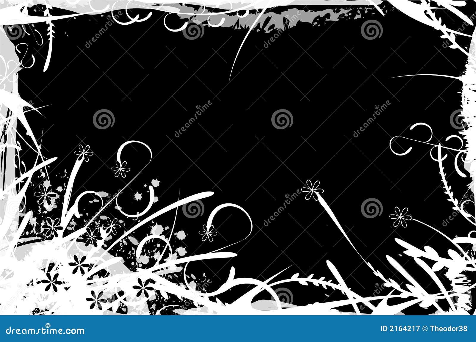 Ilustración floral del marco