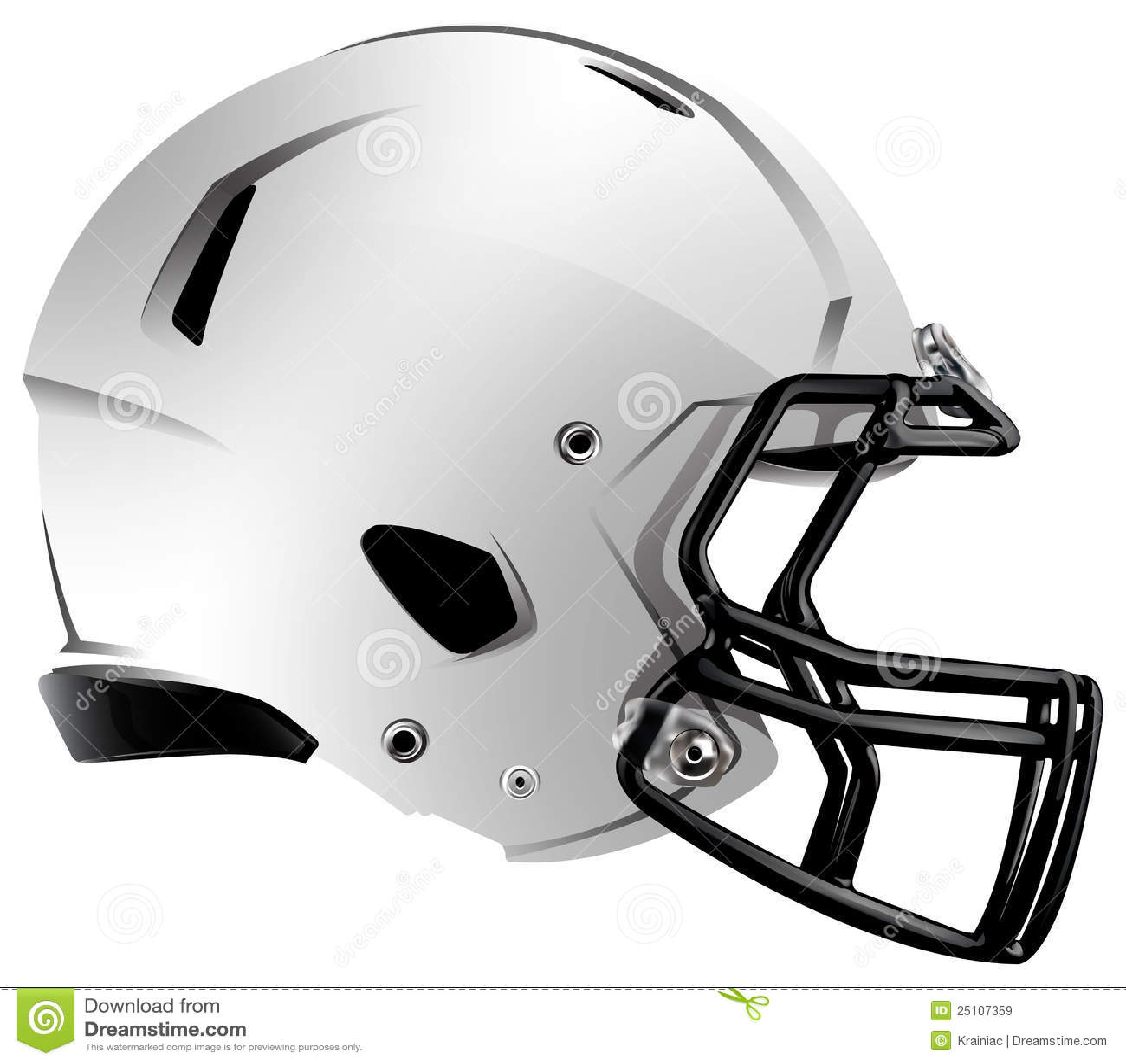 Ilustración moderna del casco de balompié