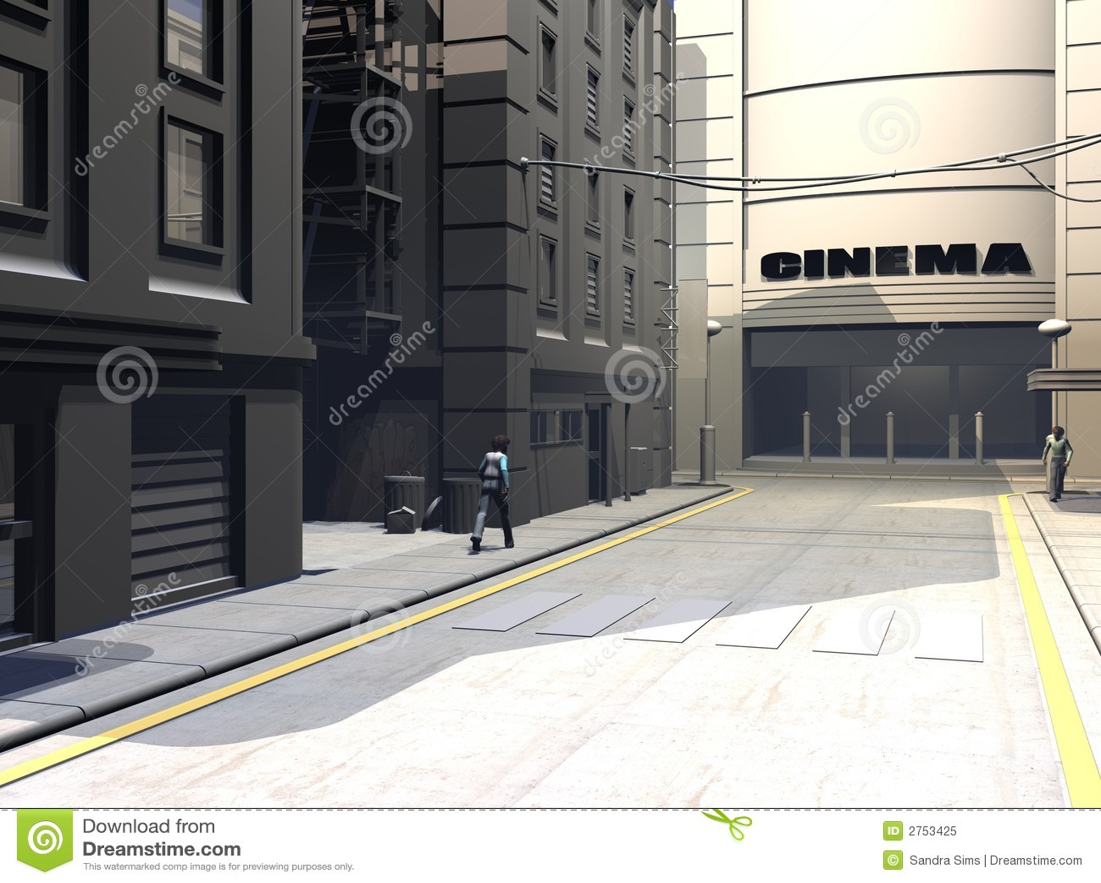 Ilustración urbana de la calle