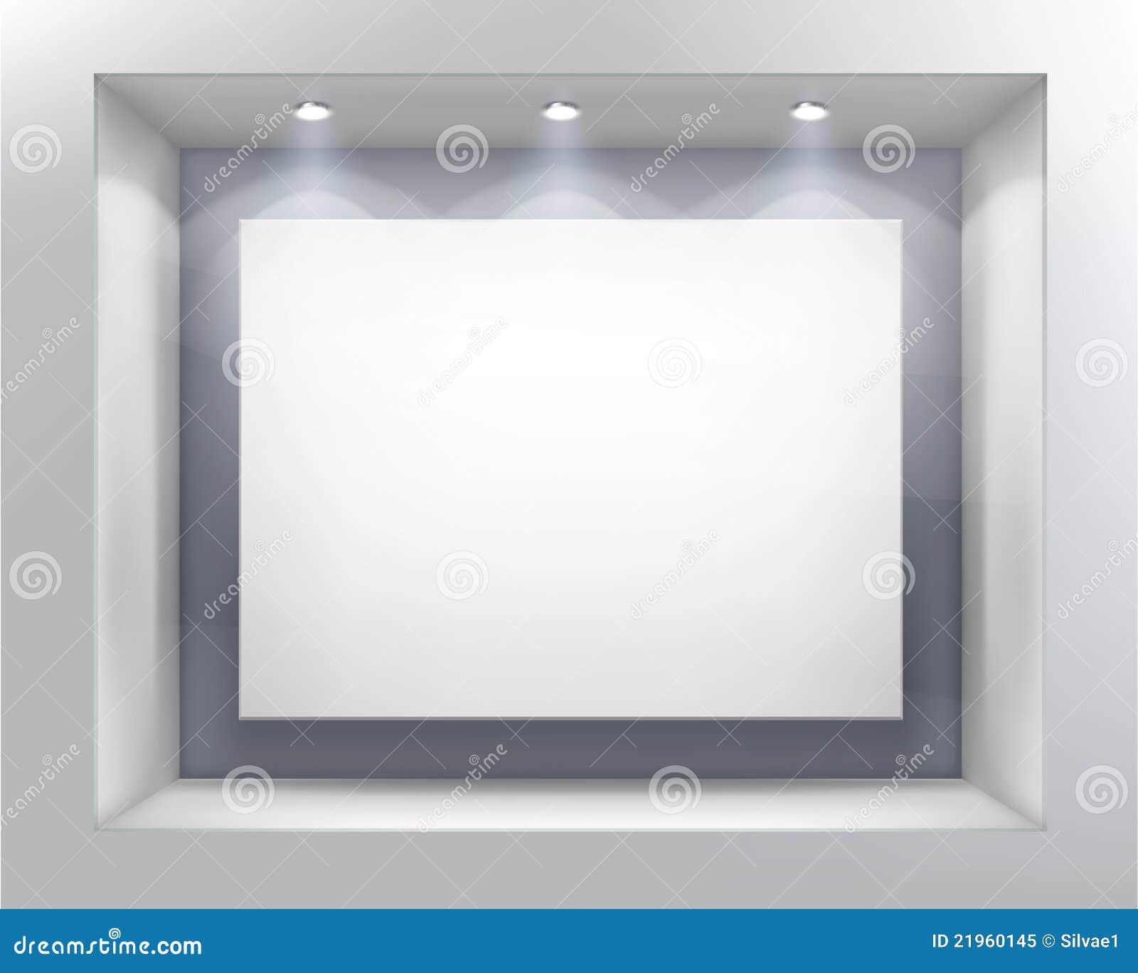 Ilustraci sklepu wektoru okno