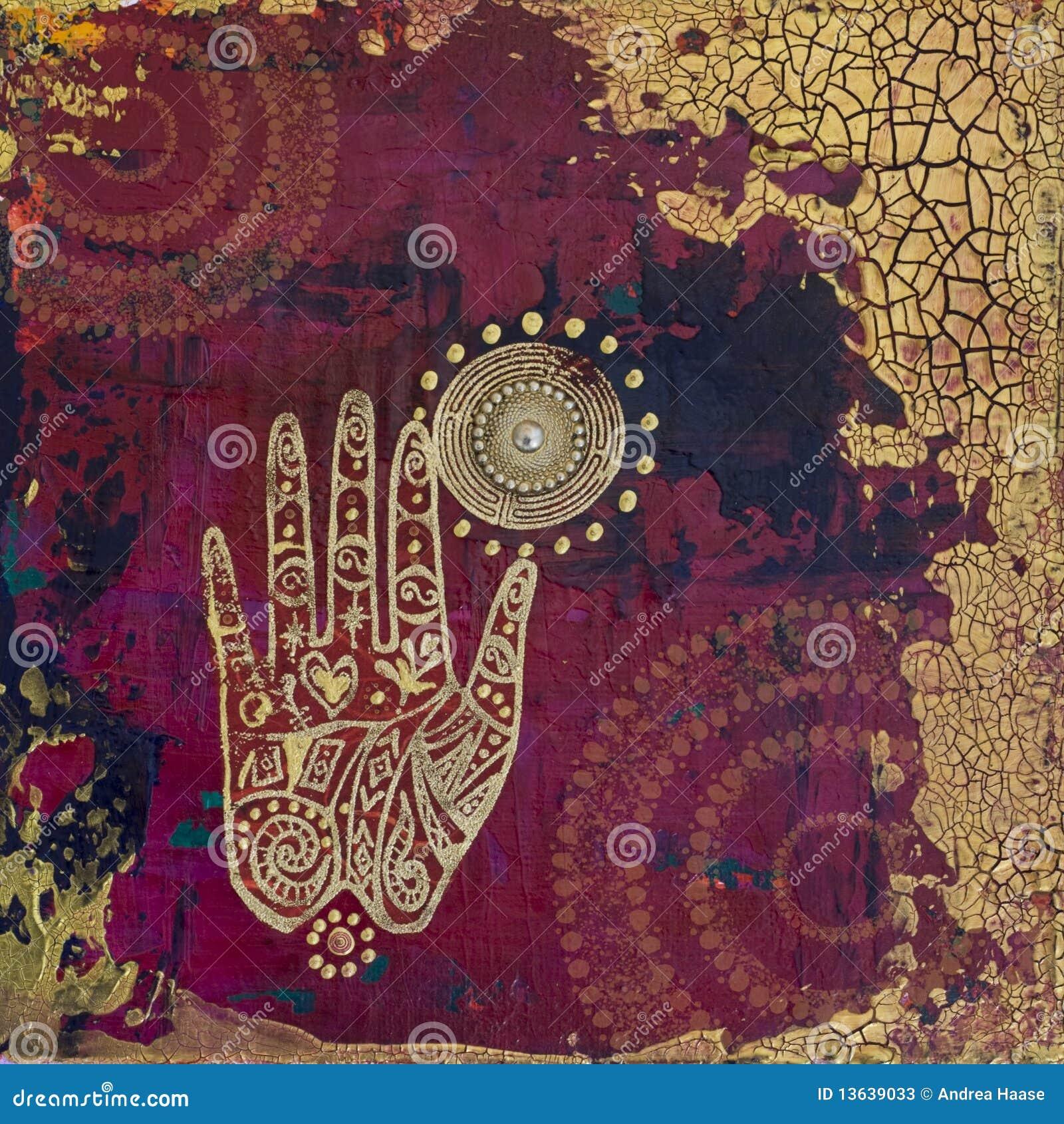 Ilustraciones del collage de la mano