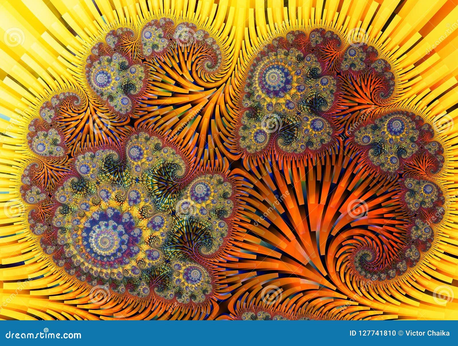 Ilustraciones digitales abstractas Modelos de la naturaleza Cáscaras mágicas