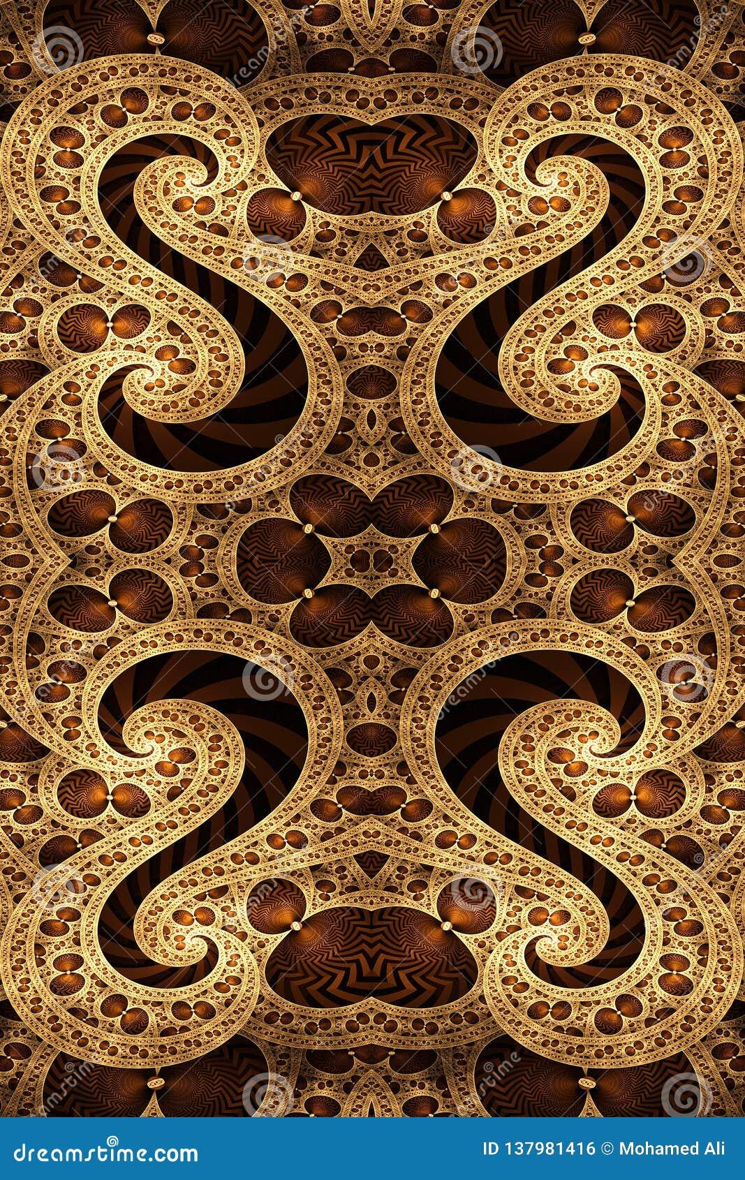 Ilustraciones S-formadas únicas generadas por ordenador de los modelos del fractal del extracto 3d